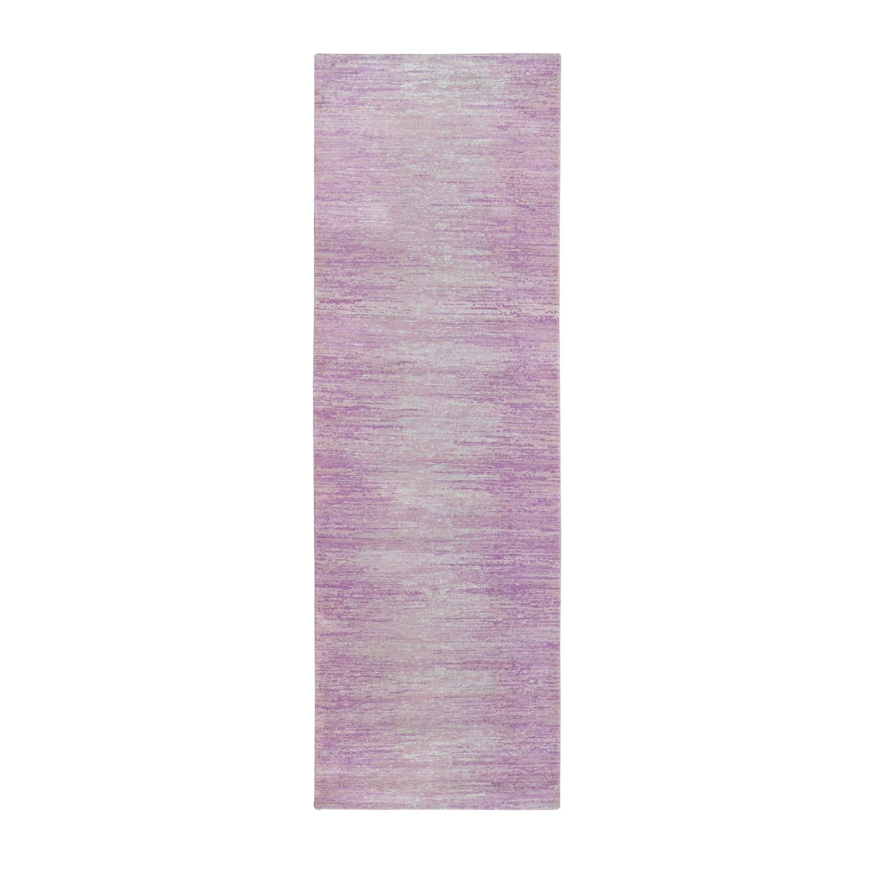 Mid Century Modern Collection Hand Knotted Pink Rug No: 1133520