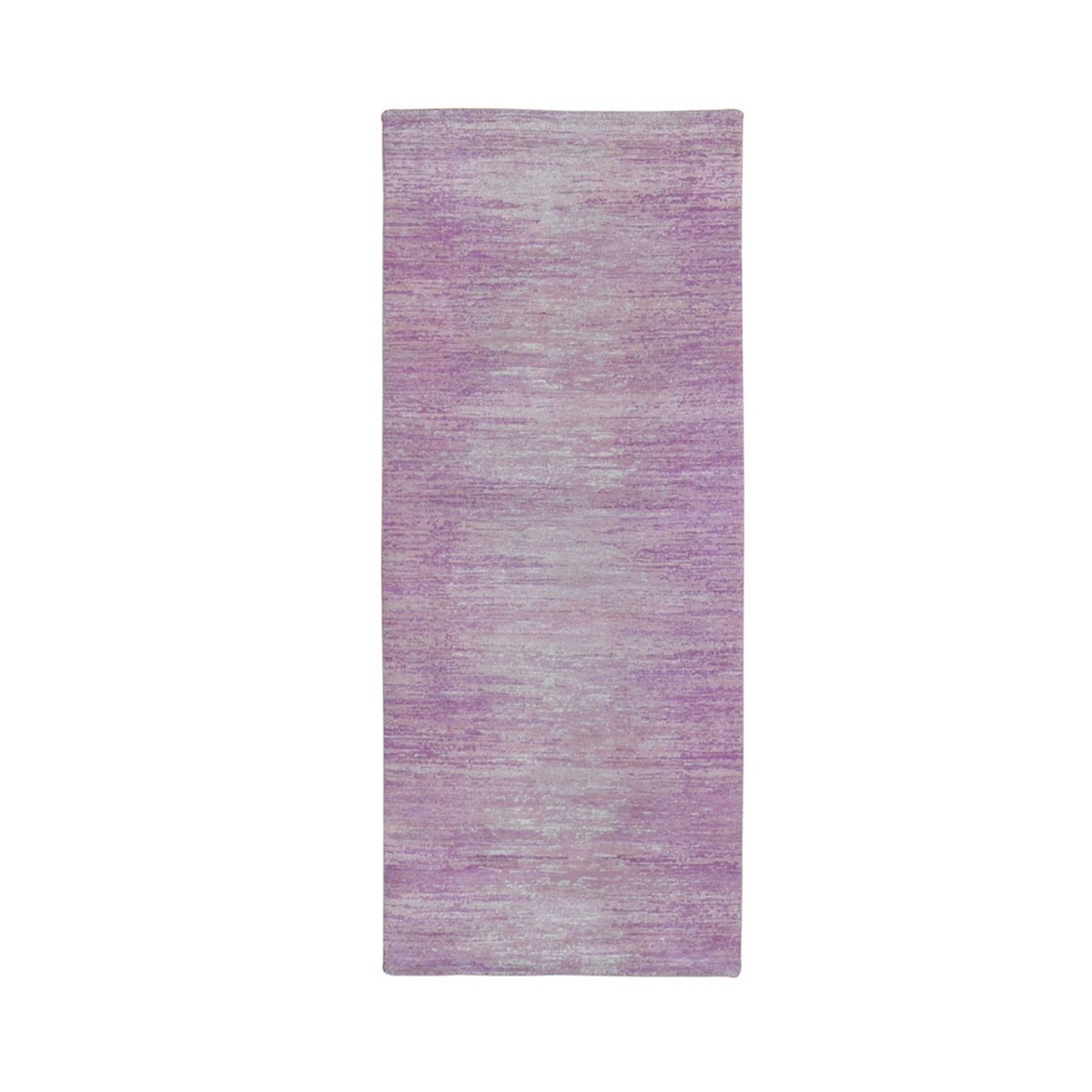 Mid Century Modern Collection Hand Knotted Pink Rug No: 1133522