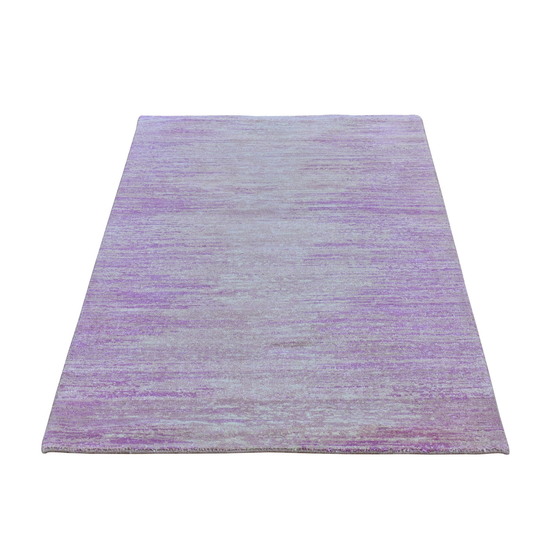 Mid Century Modern Collection Hand Knotted Pink Rug No: 1133524