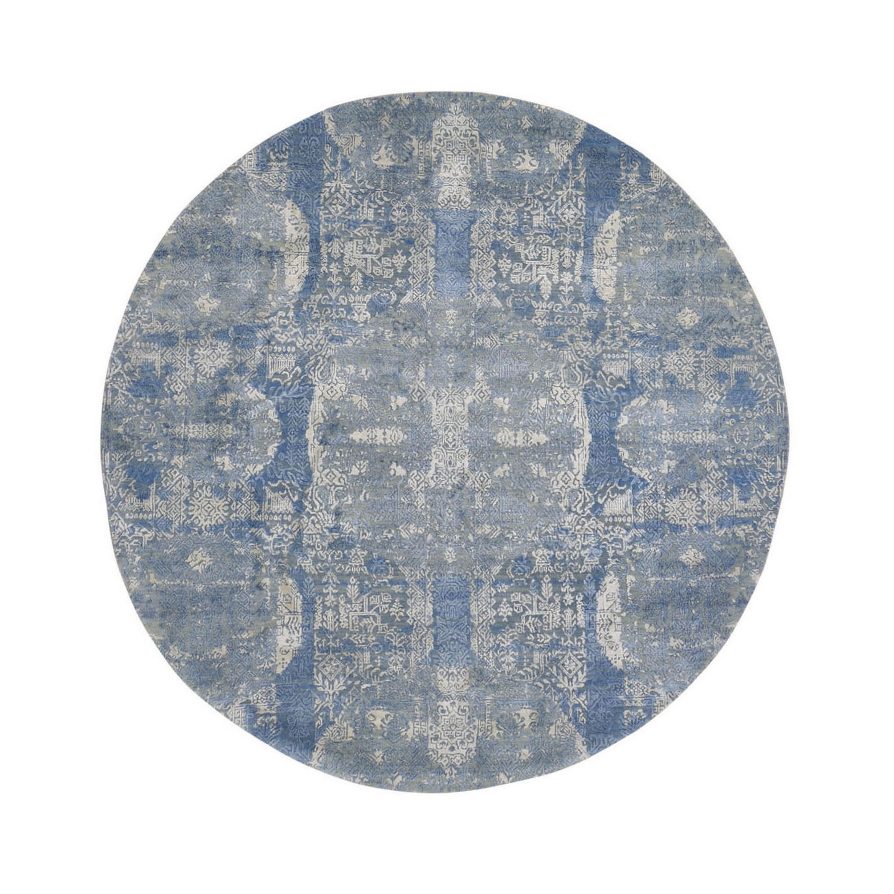 Transitional Hand Knotted Blue Rug No: 1133512