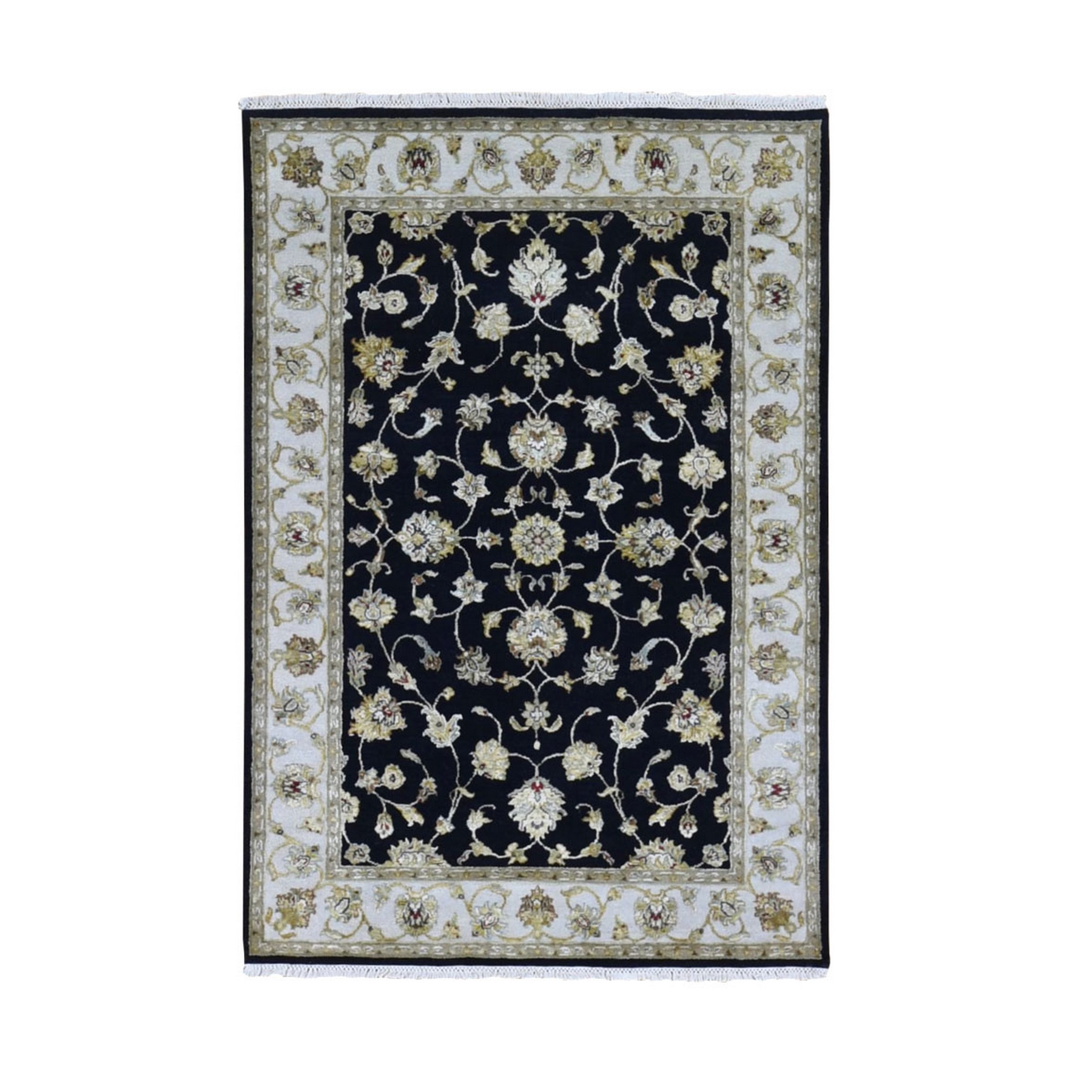 Pahlavi Collection Hand Knotted Black Rug No: 1133534