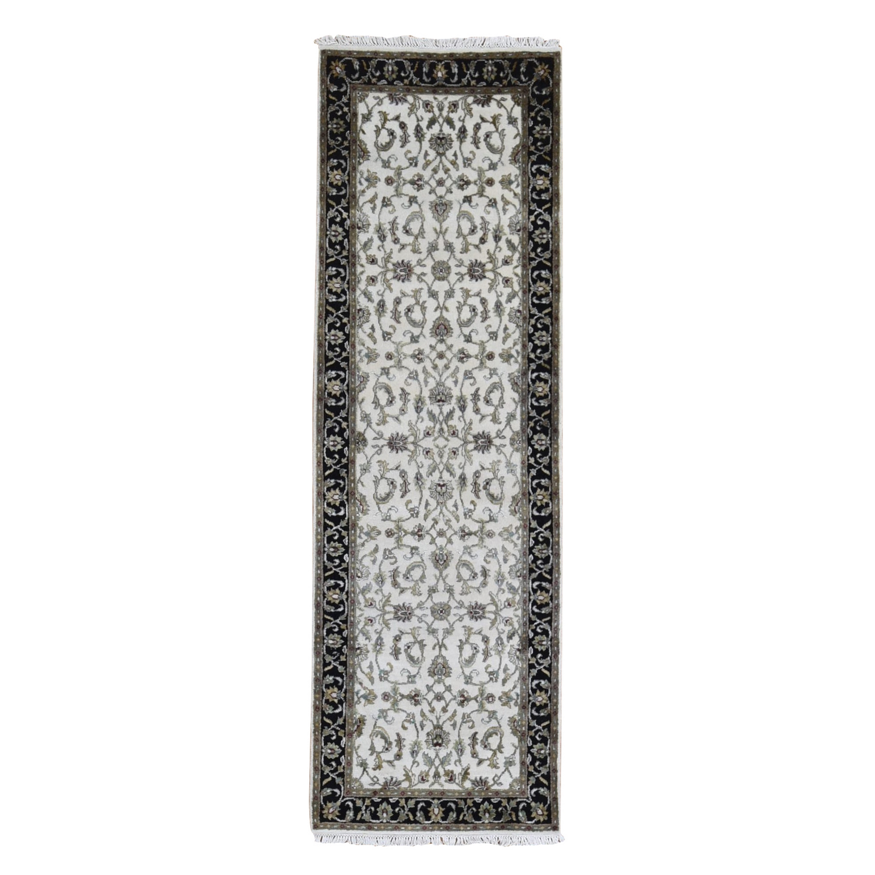 Pahlavi Collection Hand Knotted Black Rug No: 1133566