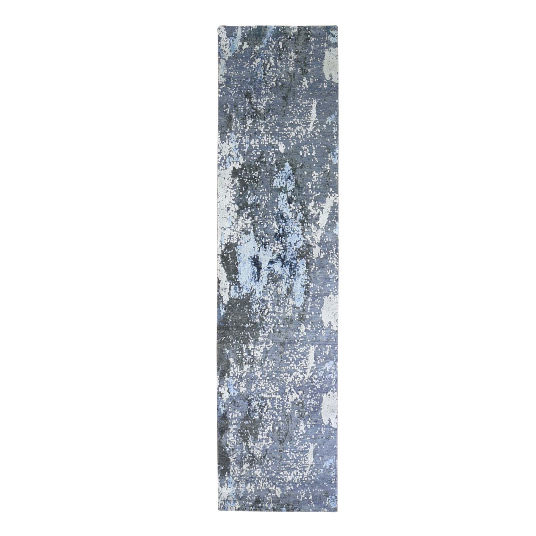 Mid Century Modern Collection Hand Knotted Grey Rug No: 1133552