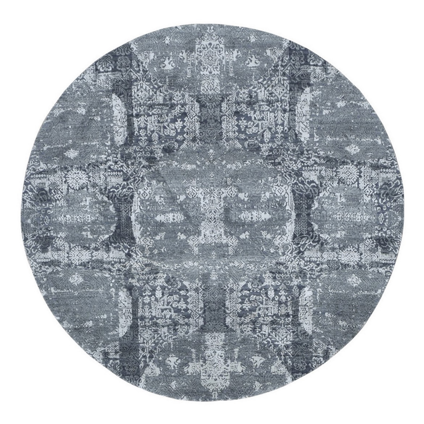Transitional Hand Knotted Grey Rug No: 1133556