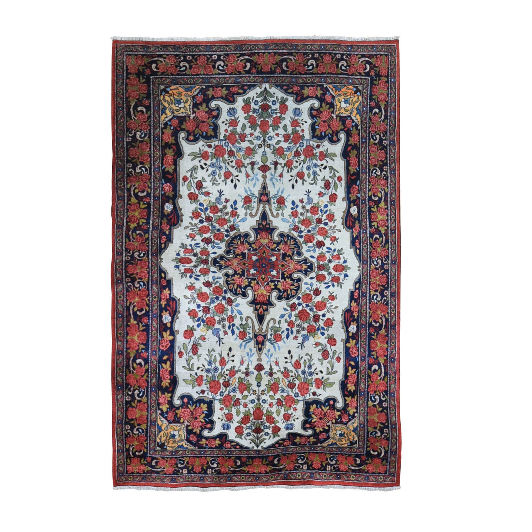 Classic Persian Collection Hand Knotted Ivory Rug No: 1133498