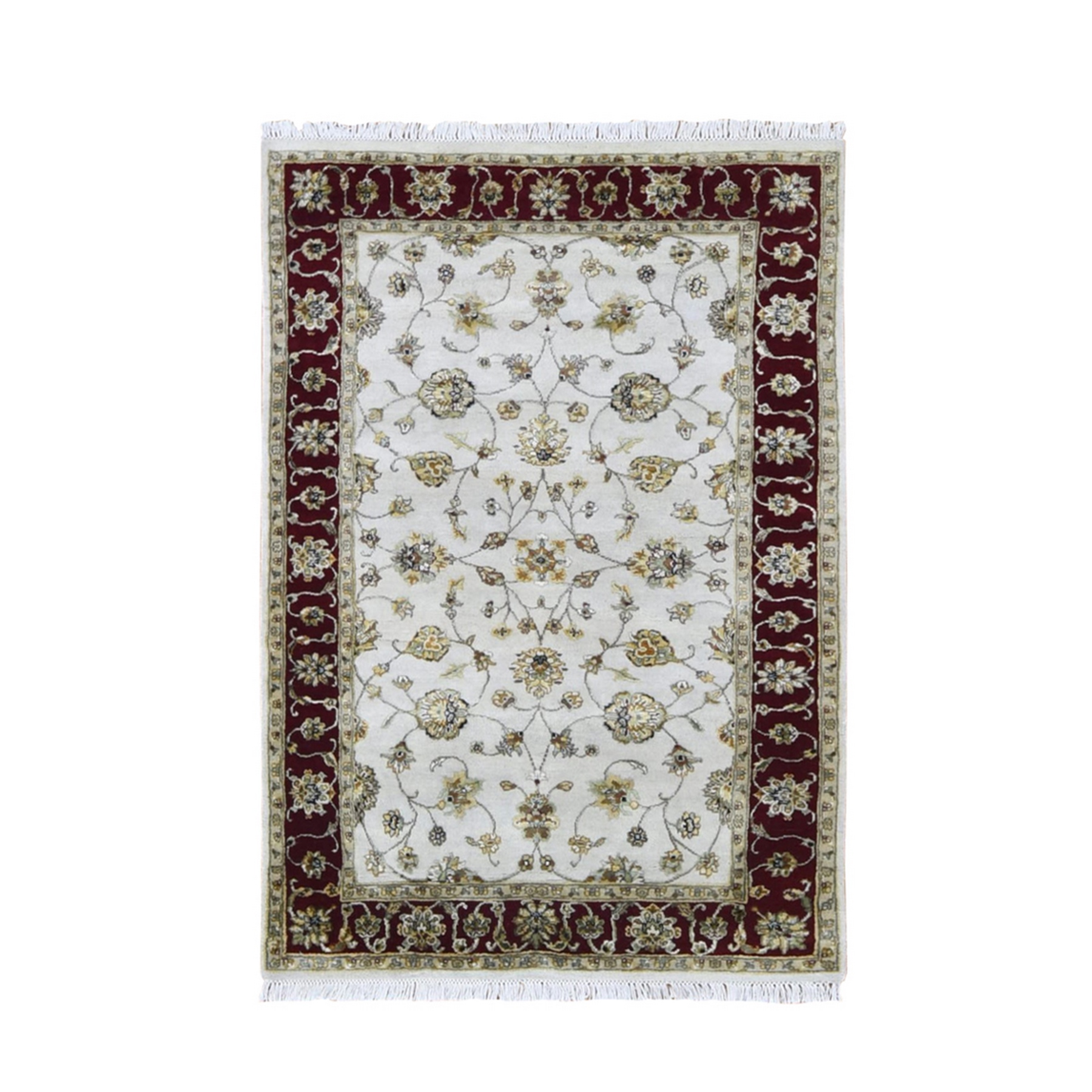 Pahlavi Collection Hand Knotted Ivory Rug No: 1133558