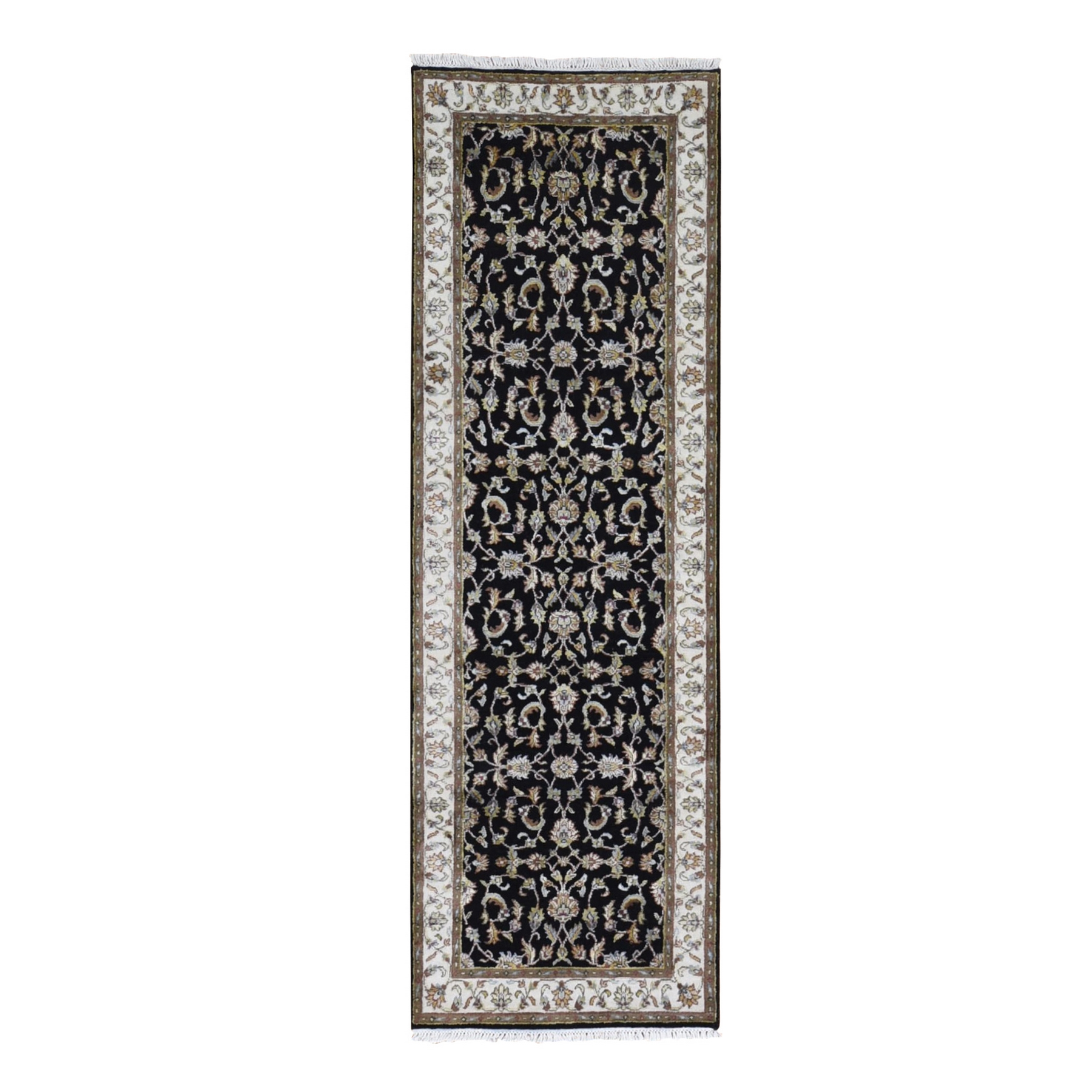 Pahlavi Collection Hand Knotted Black Rug No: 1133564
