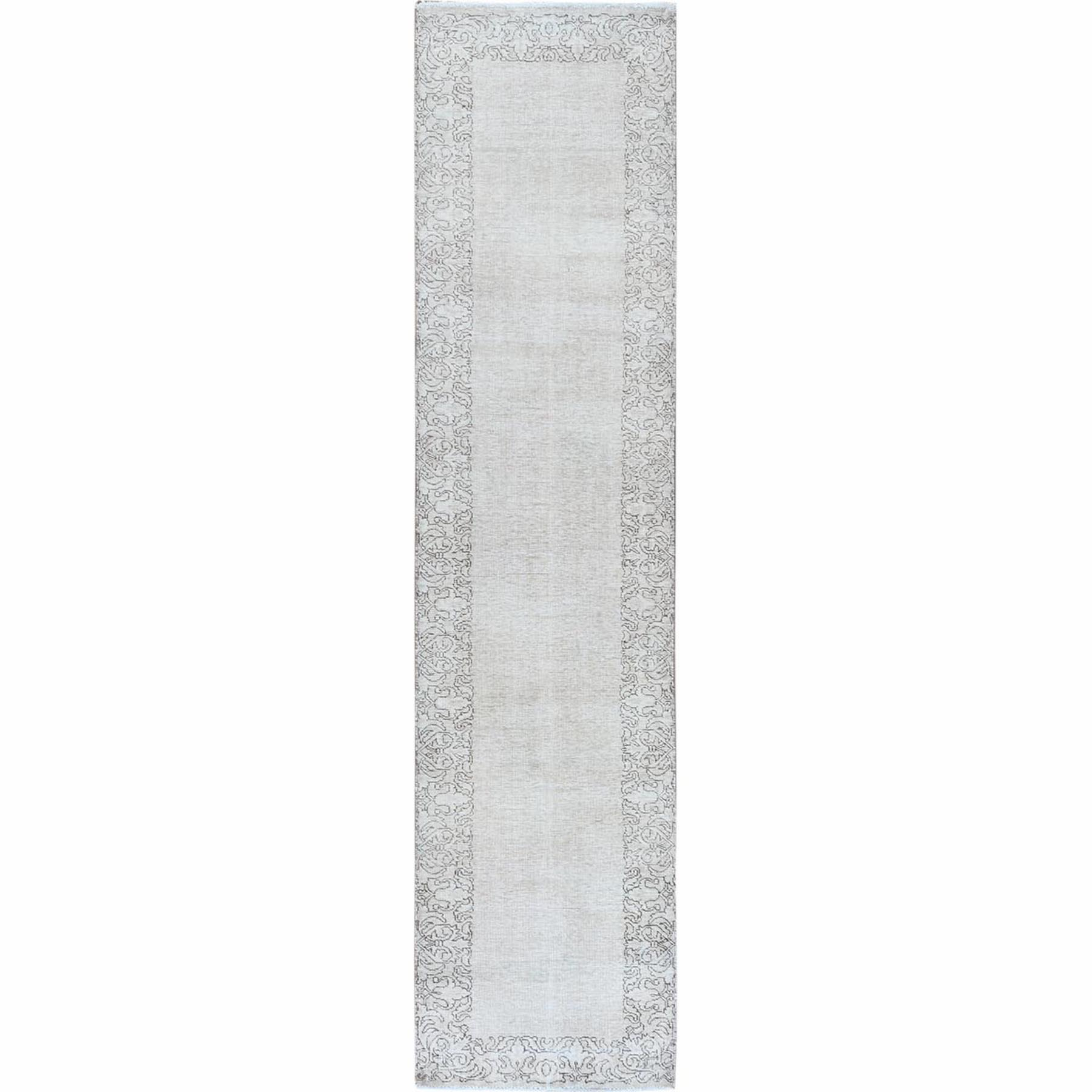 Fetneh Collection And Vintage Overdyed Collection Hand Knotted Ivory Rug No: 1121926