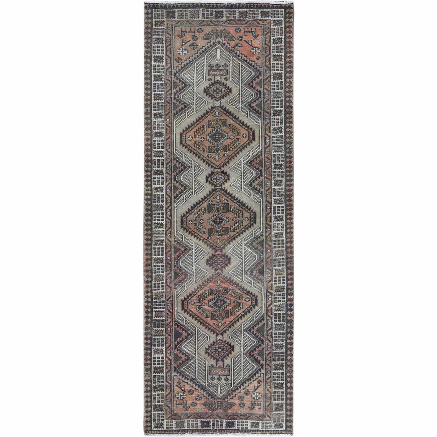 Fetneh Collection And Vintage Overdyed Collection Hand Knotted Grey Rug No: 1121962