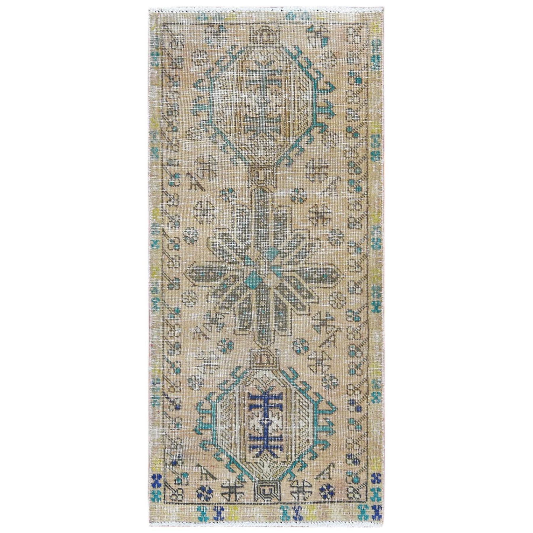 Fetneh Collection And Vintage Overdyed Collection Hand Knotted Yellow Rug No: 1122072