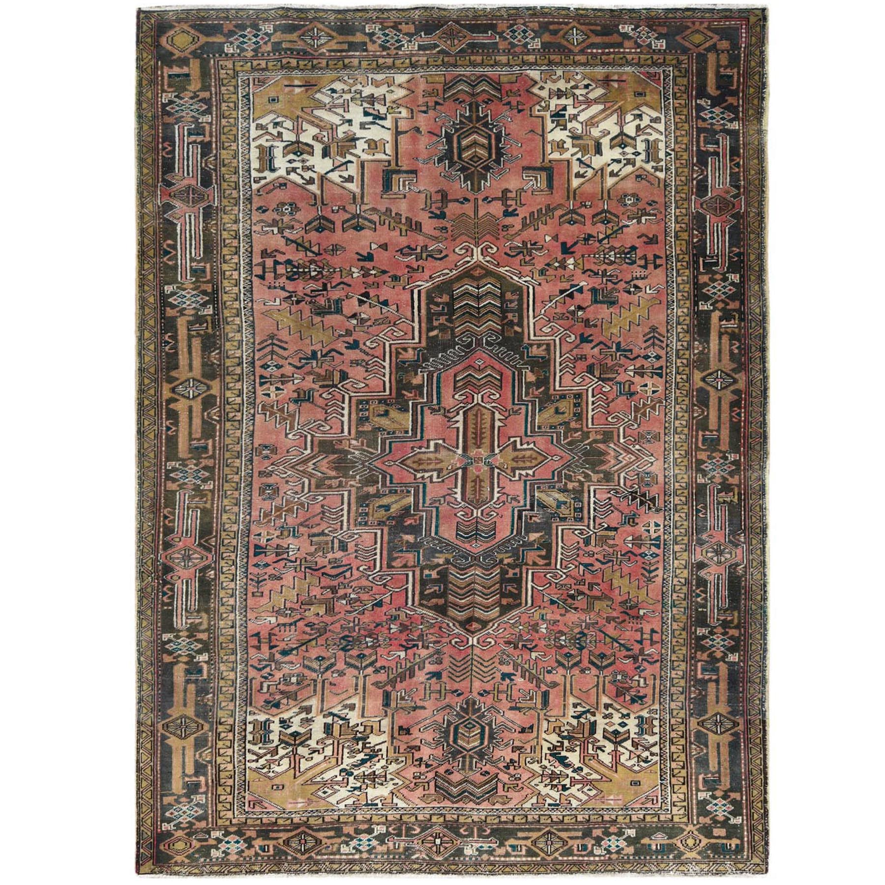 Fetneh Collection And Vintage Overdyed Collection Hand Knotted Pink Rug No: 1122374