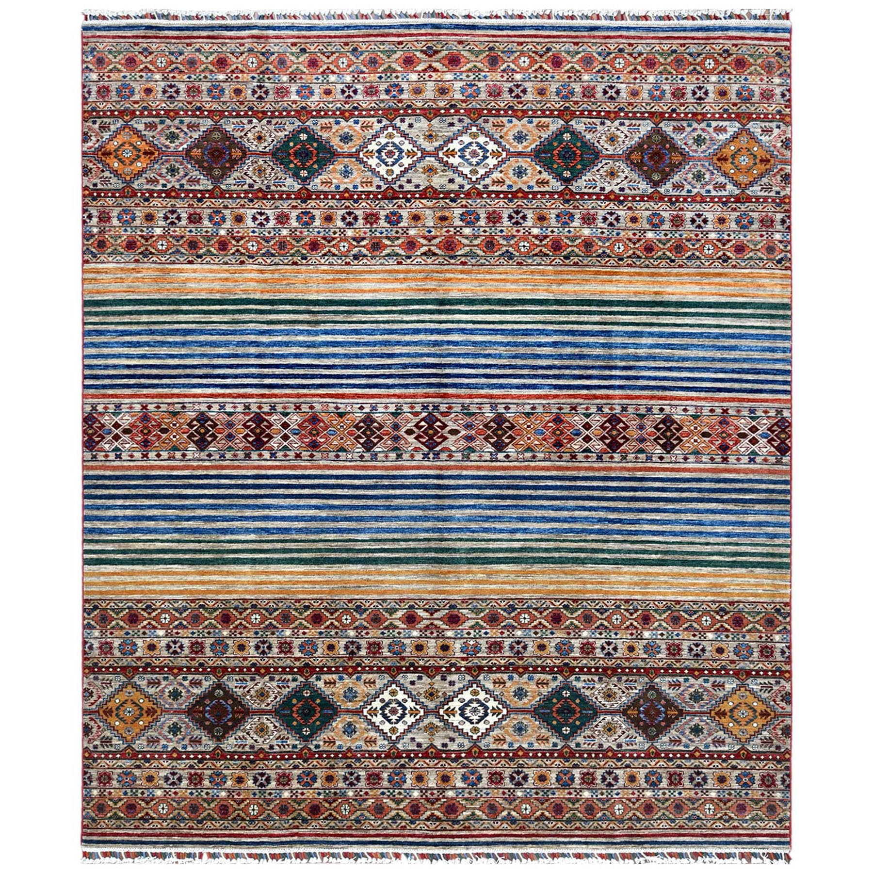 Caucasian Collection Hand Knotted Brown Rug No: 1122258