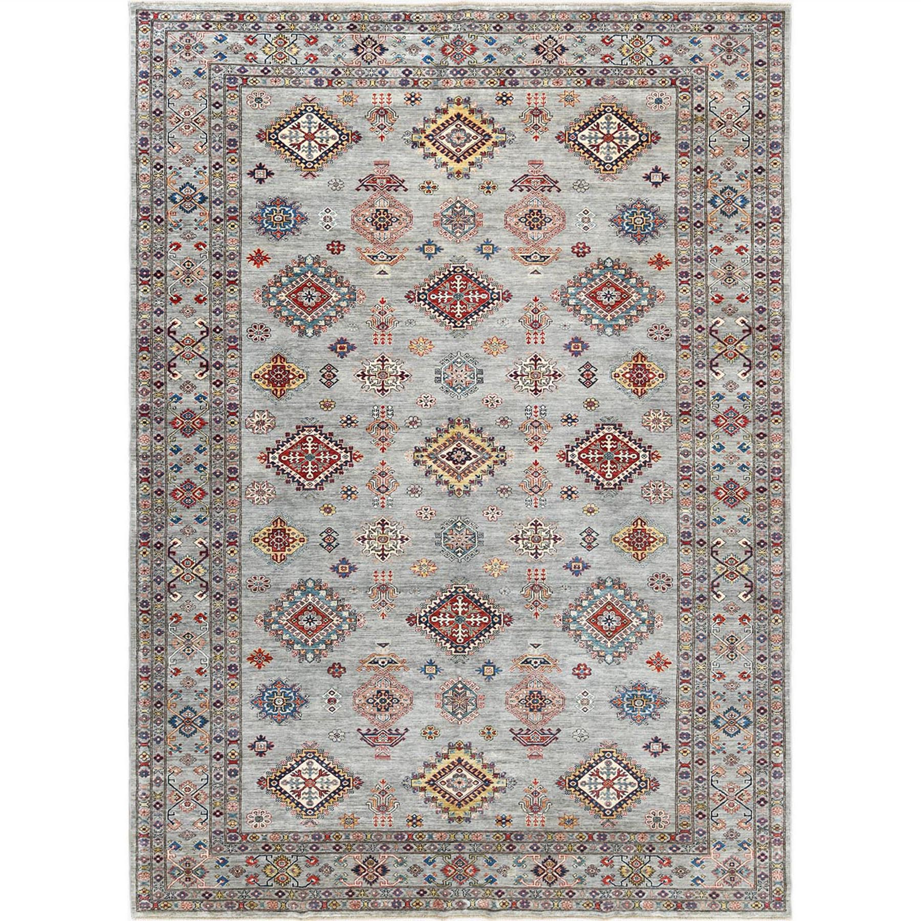 Caucasian Collection Hand Knotted Grey Rug No: 1122530