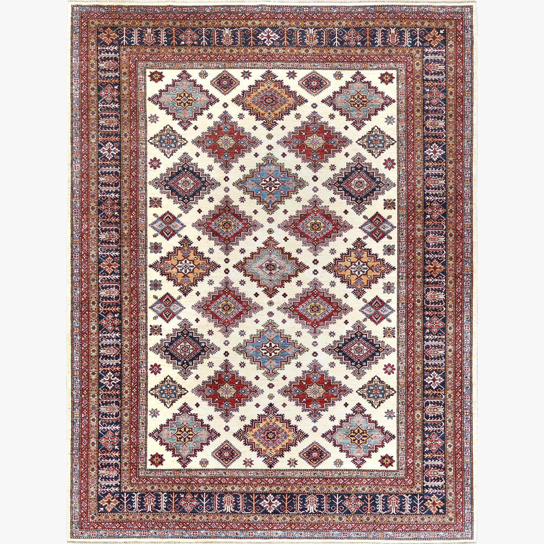 Caucasian Collection Hand Knotted Ivory Rug No: 1122536