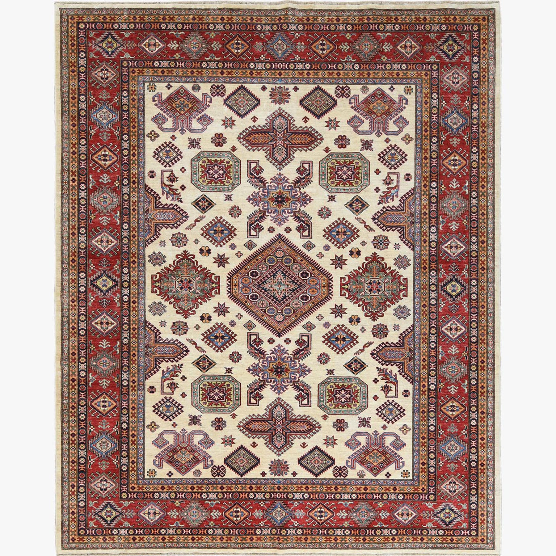Caucasian Collection Hand Knotted Ivory Rug No: 1122544