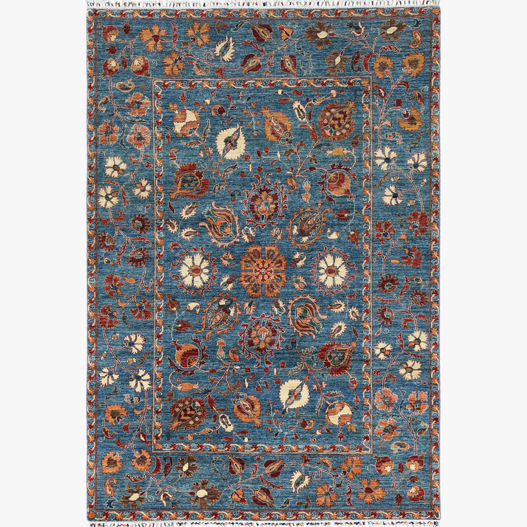 Caucasian Collection Hand Knotted Blue Rug No: 1122560