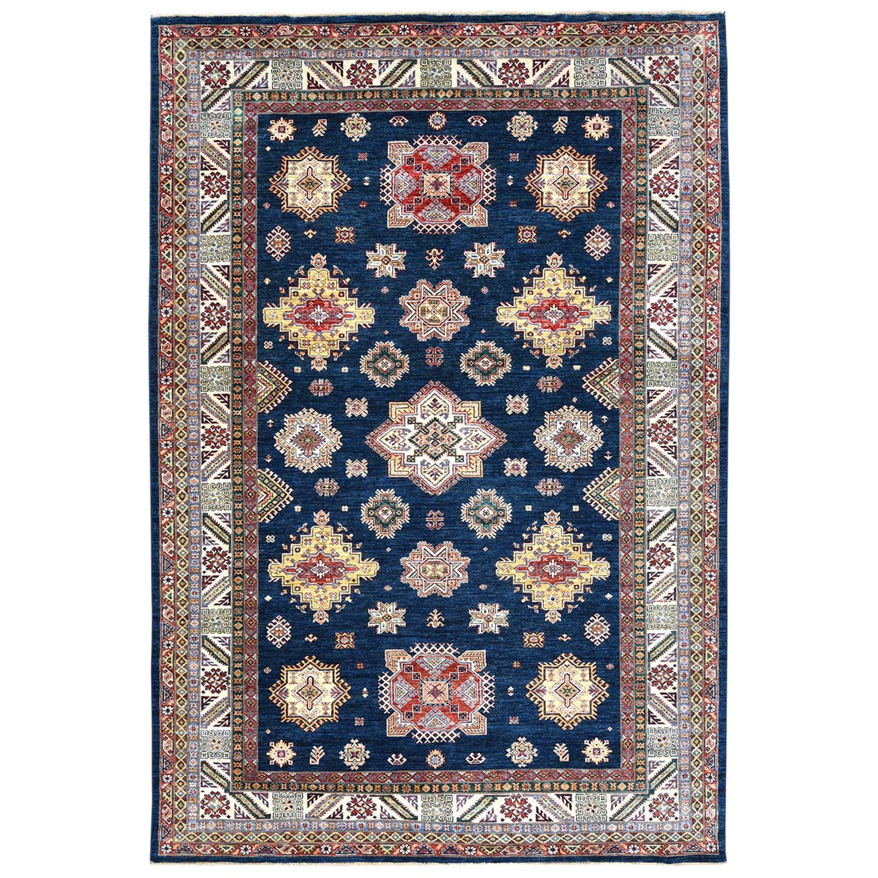 Caucasian Collection Hand Knotted Blue Rug No: 1122714