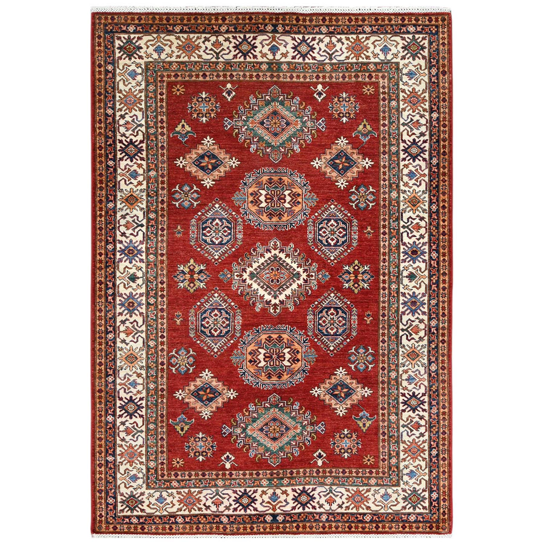 Caucasian Collection Hand Knotted Red Rug No: 1122718