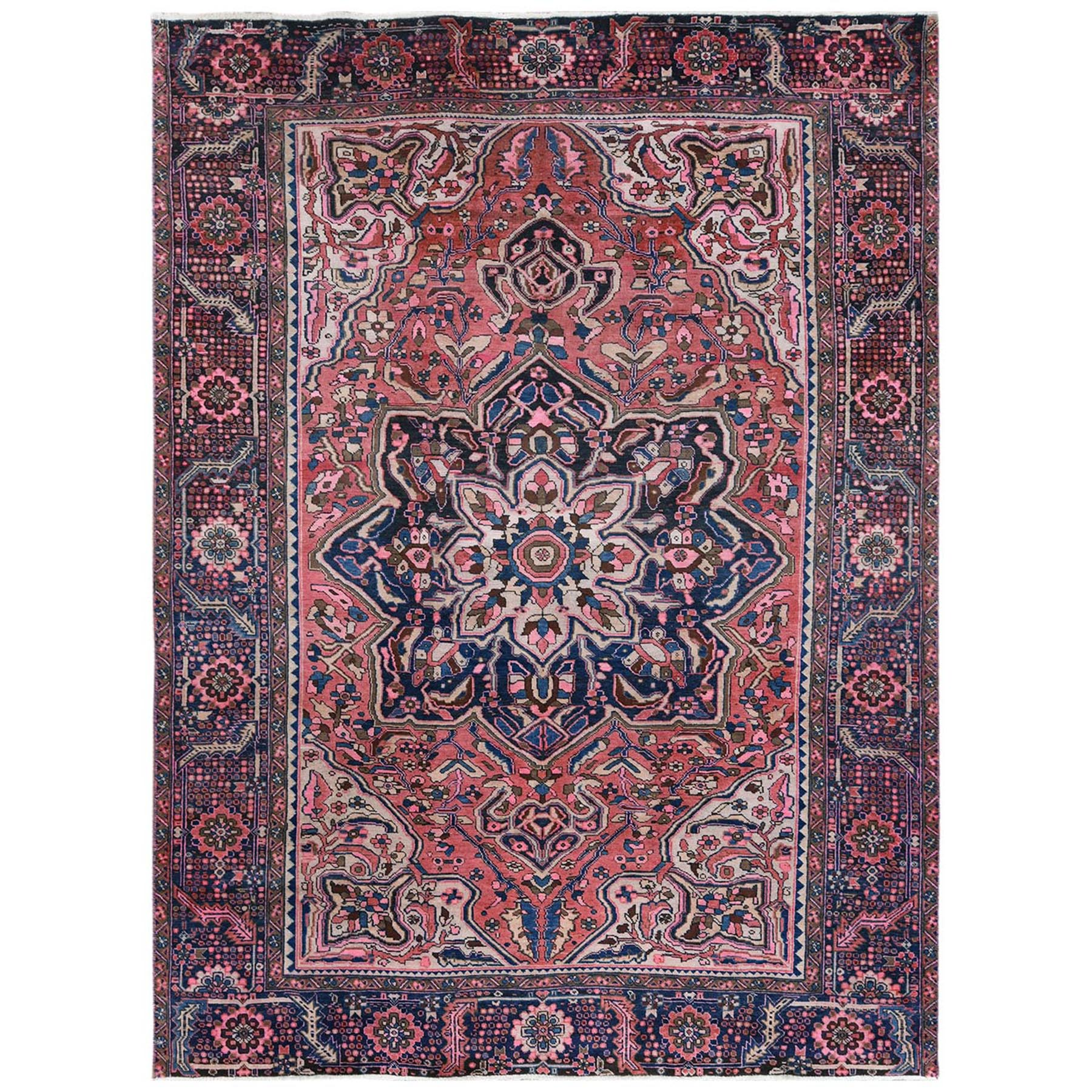 Fetneh Collection And Vintage Overdyed Collection Hand Knotted Pink Rug No: 1122502