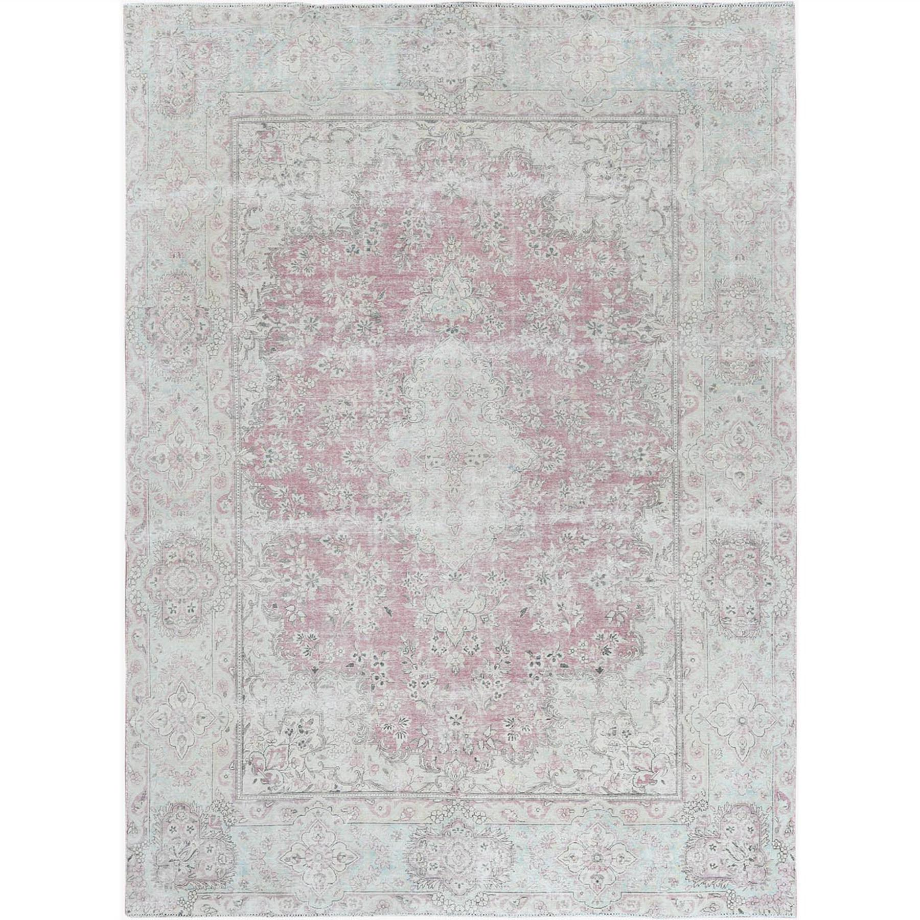 Fetneh Collection And Vintage Overdyed Collection Hand Knotted Red Rug No: 1122646