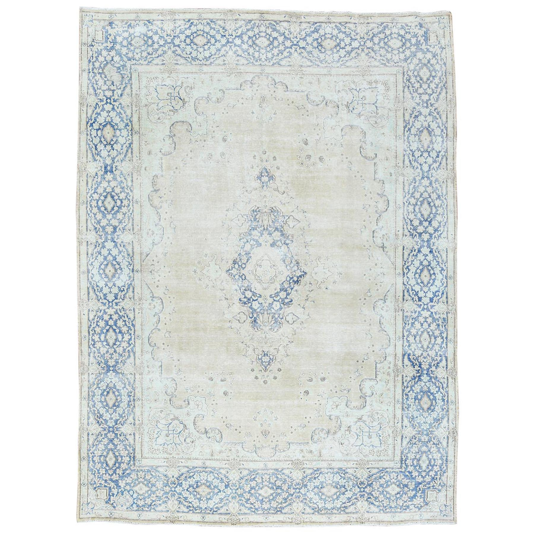 Fetneh Collection And Vintage Overdyed Collection Hand Knotted Ivory Rug No: 1122686