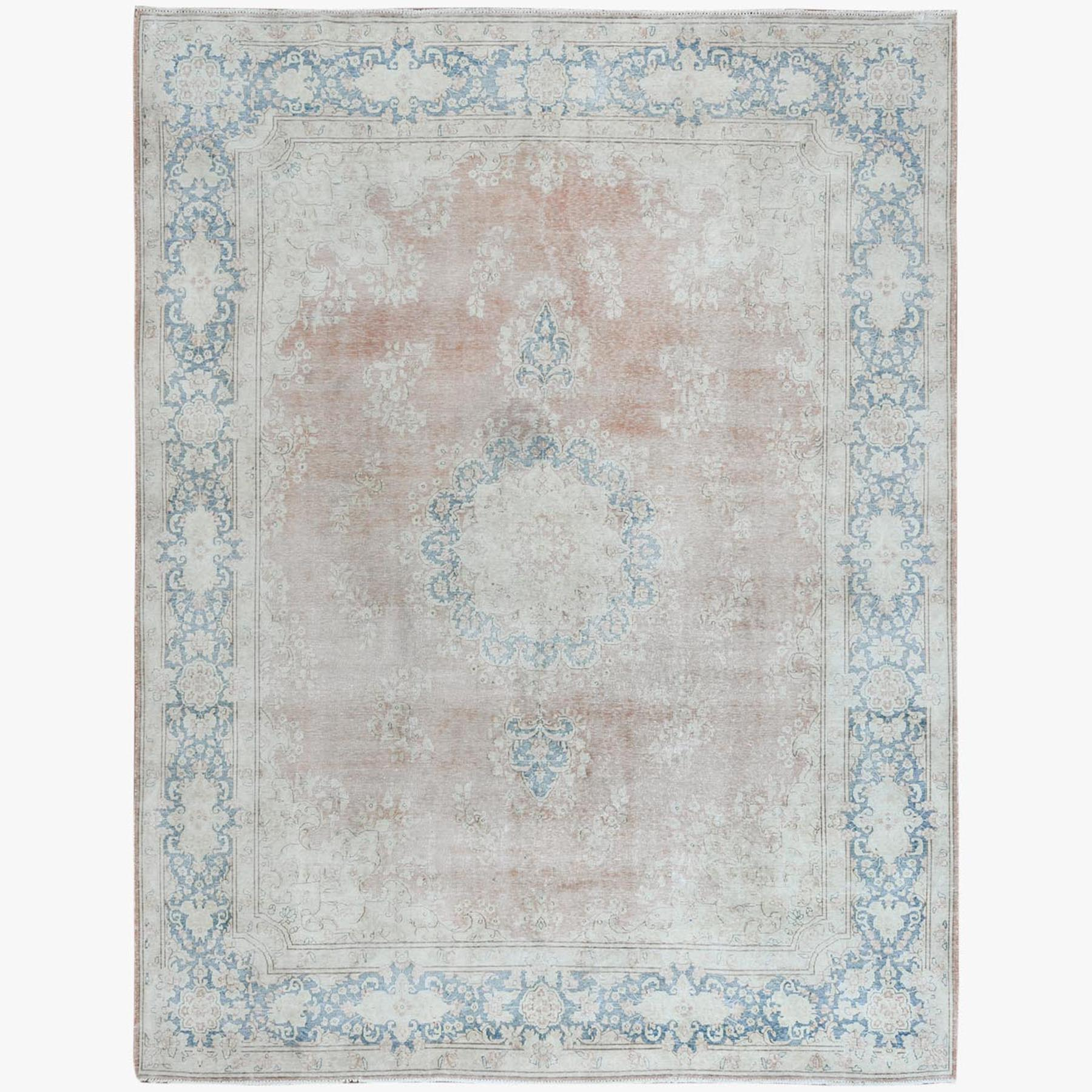 Fetneh Collection And Vintage Overdyed Collection Hand Knotted Pink Rug No: 1122808