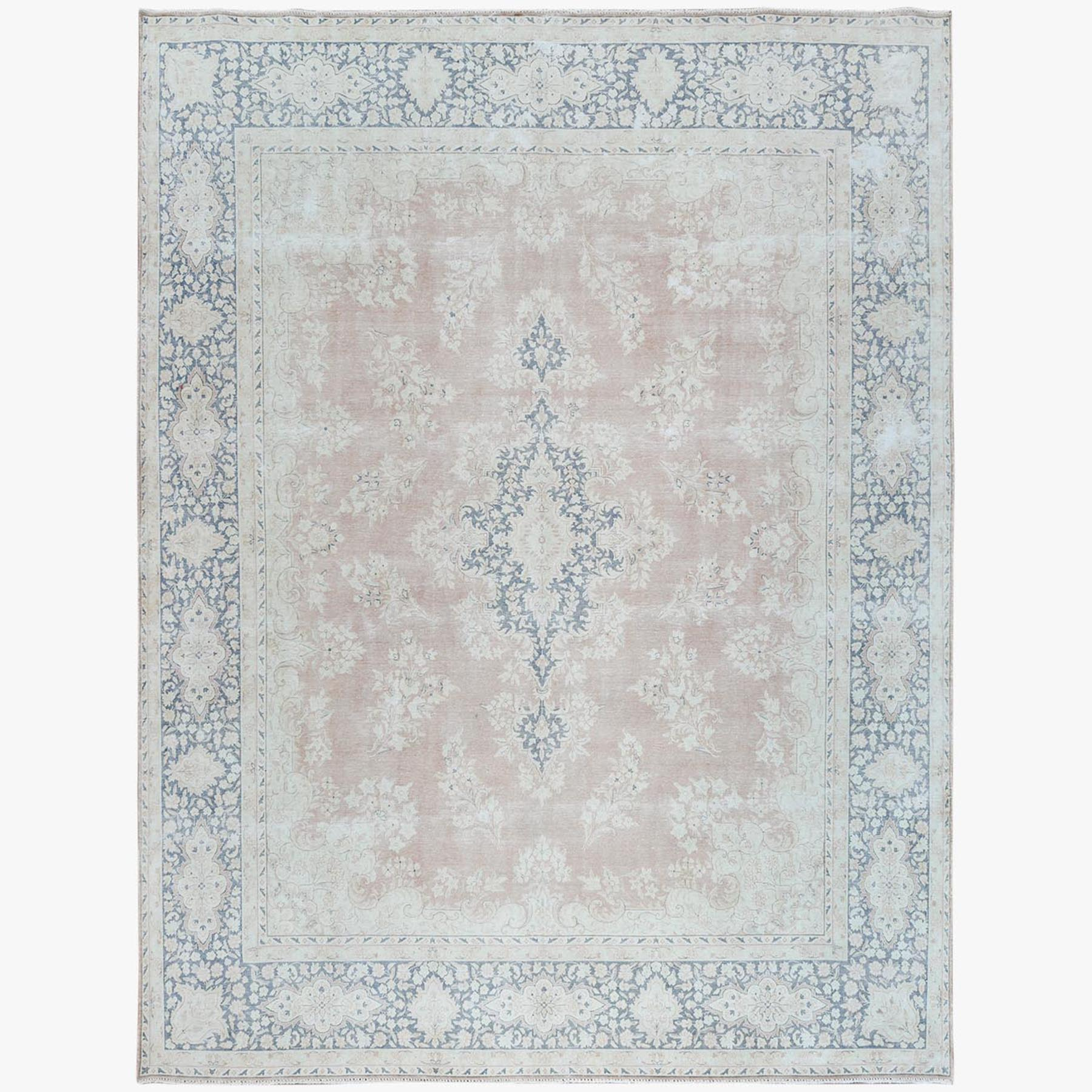 Fetneh Collection And Vintage Overdyed Collection Hand Knotted Pink Rug No: 1122824