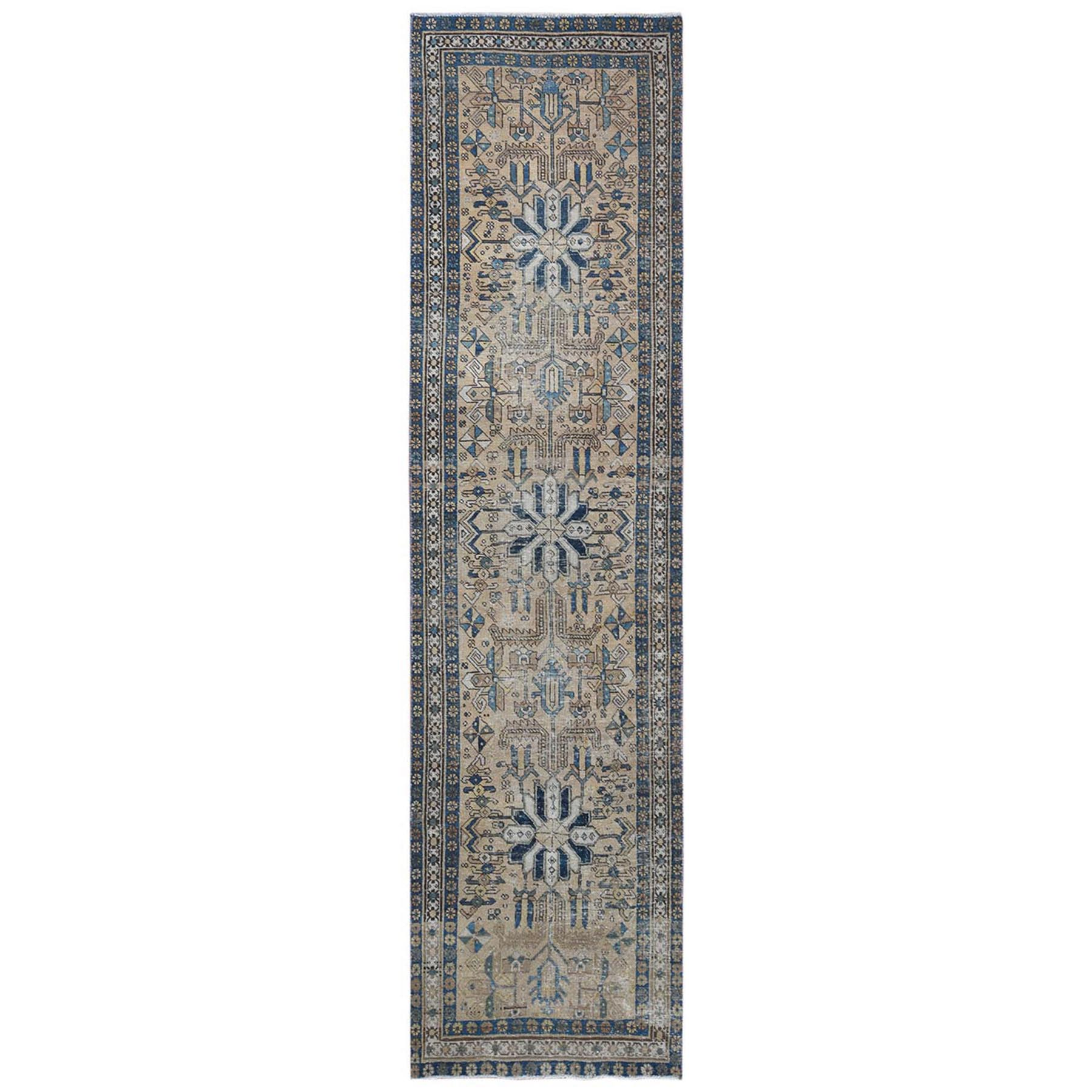 Fetneh Collection And Vintage Overdyed Collection Hand Knotted Brown Rug No: 1121854