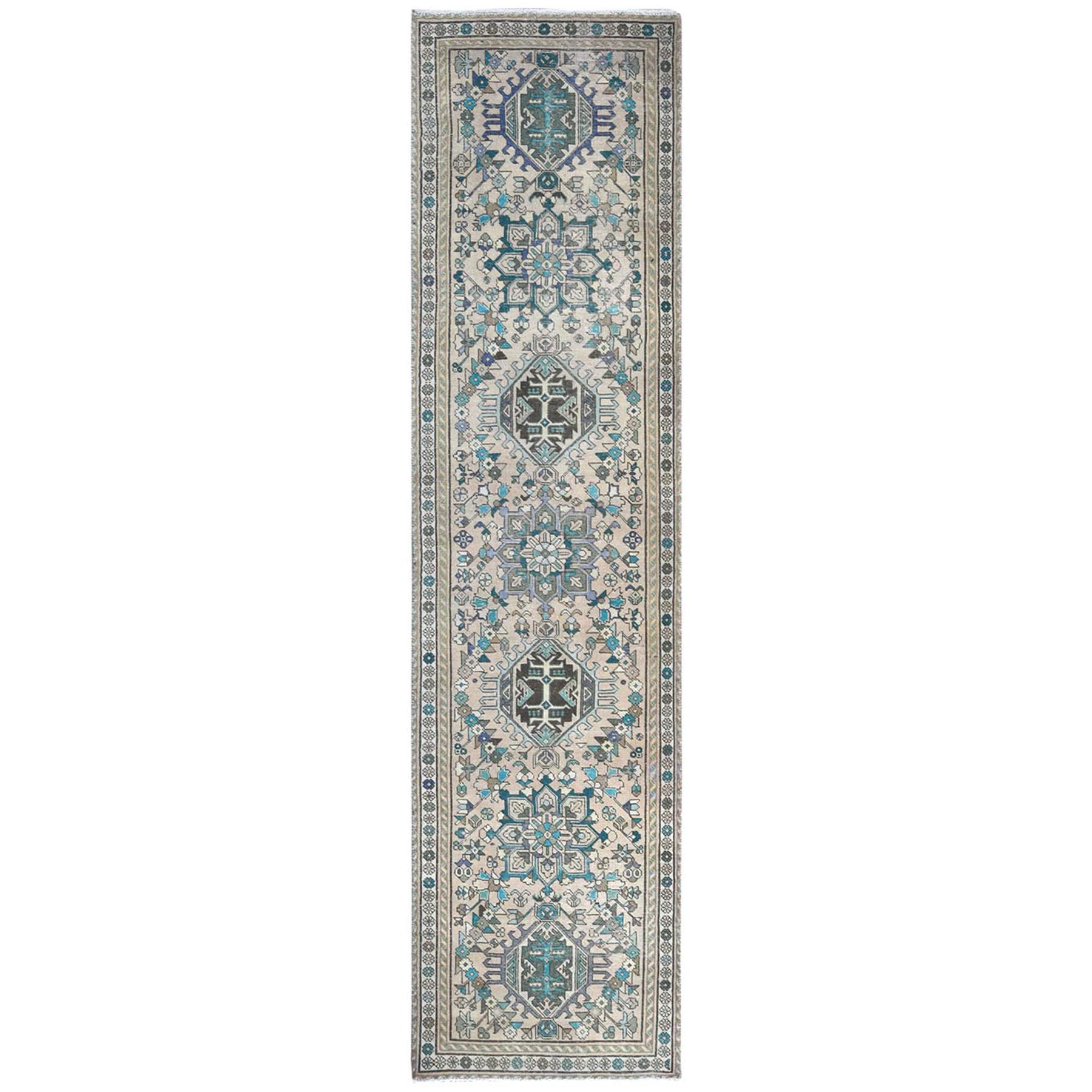 Fetneh Collection And Vintage Overdyed Collection Hand Knotted Beige Rug No: 1121862
