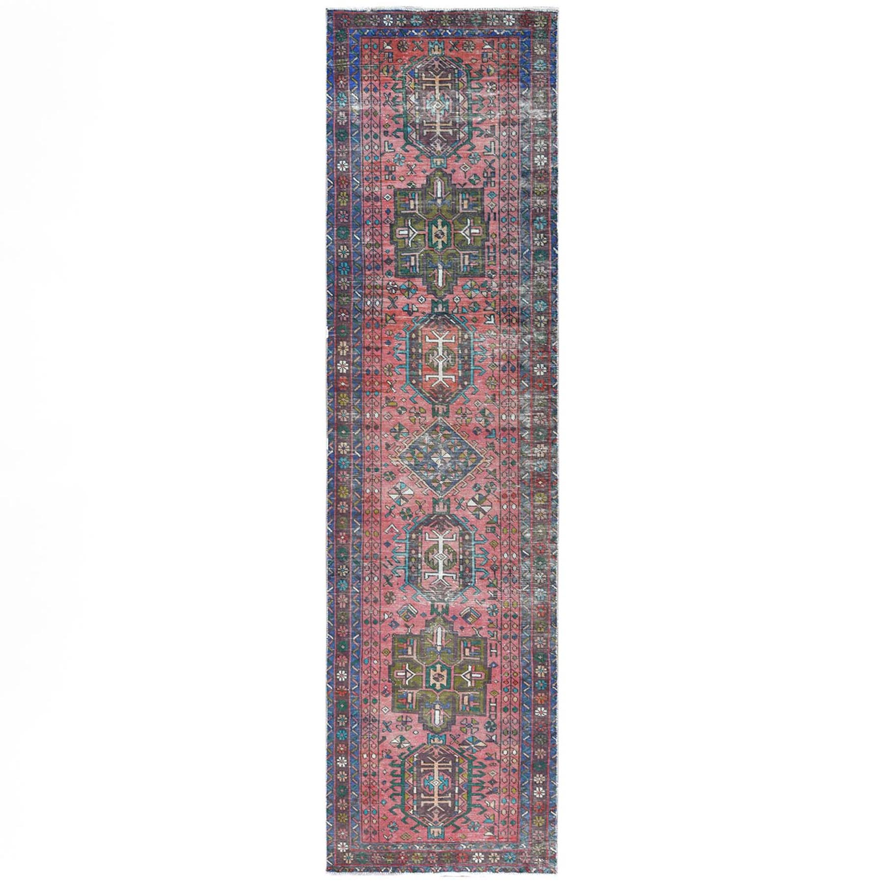 Fetneh Collection And Vintage Overdyed Collection Hand Knotted Red Rug No: 1121864