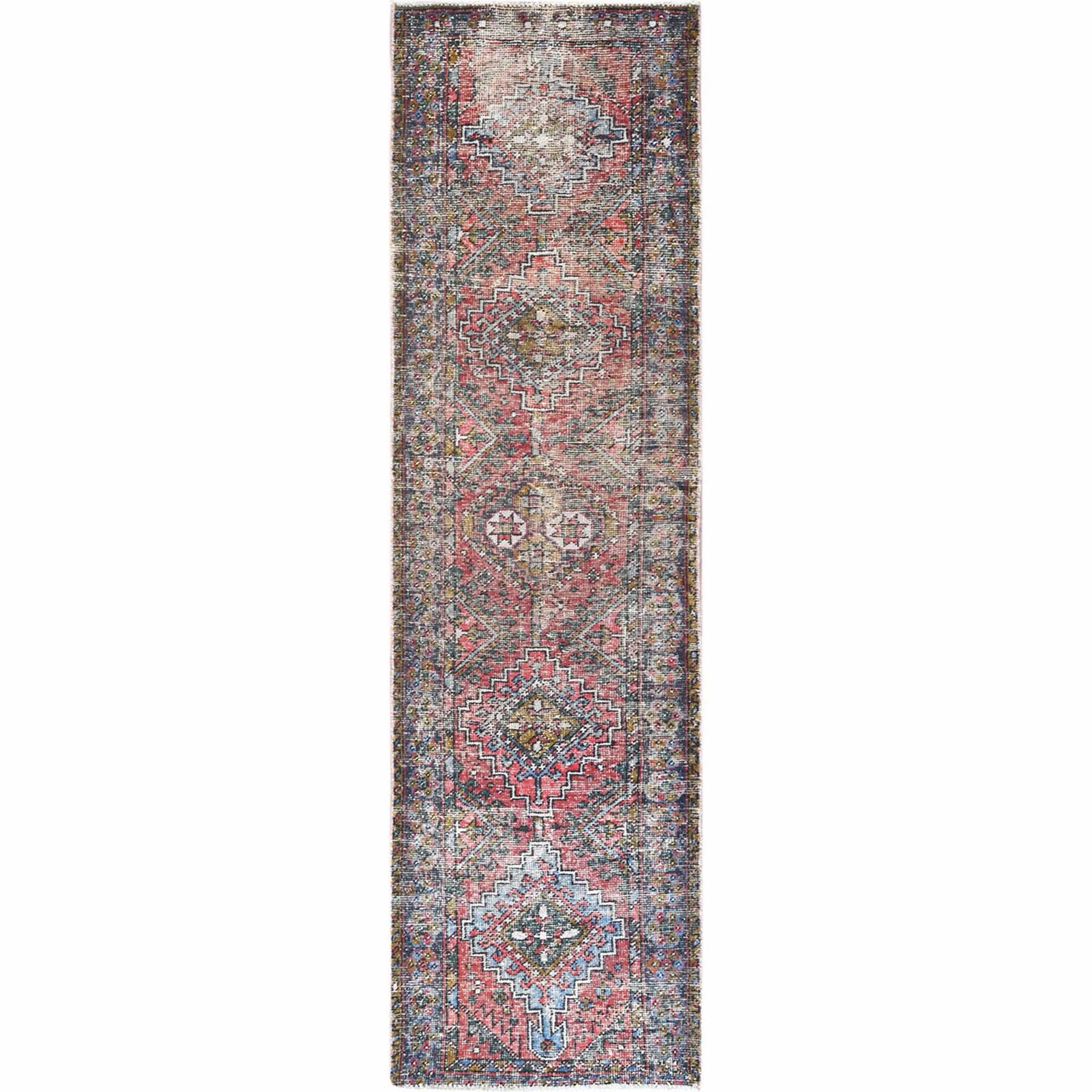 Fetneh Collection And Vintage Overdyed Collection Hand Knotted Red Rug No: 1121984