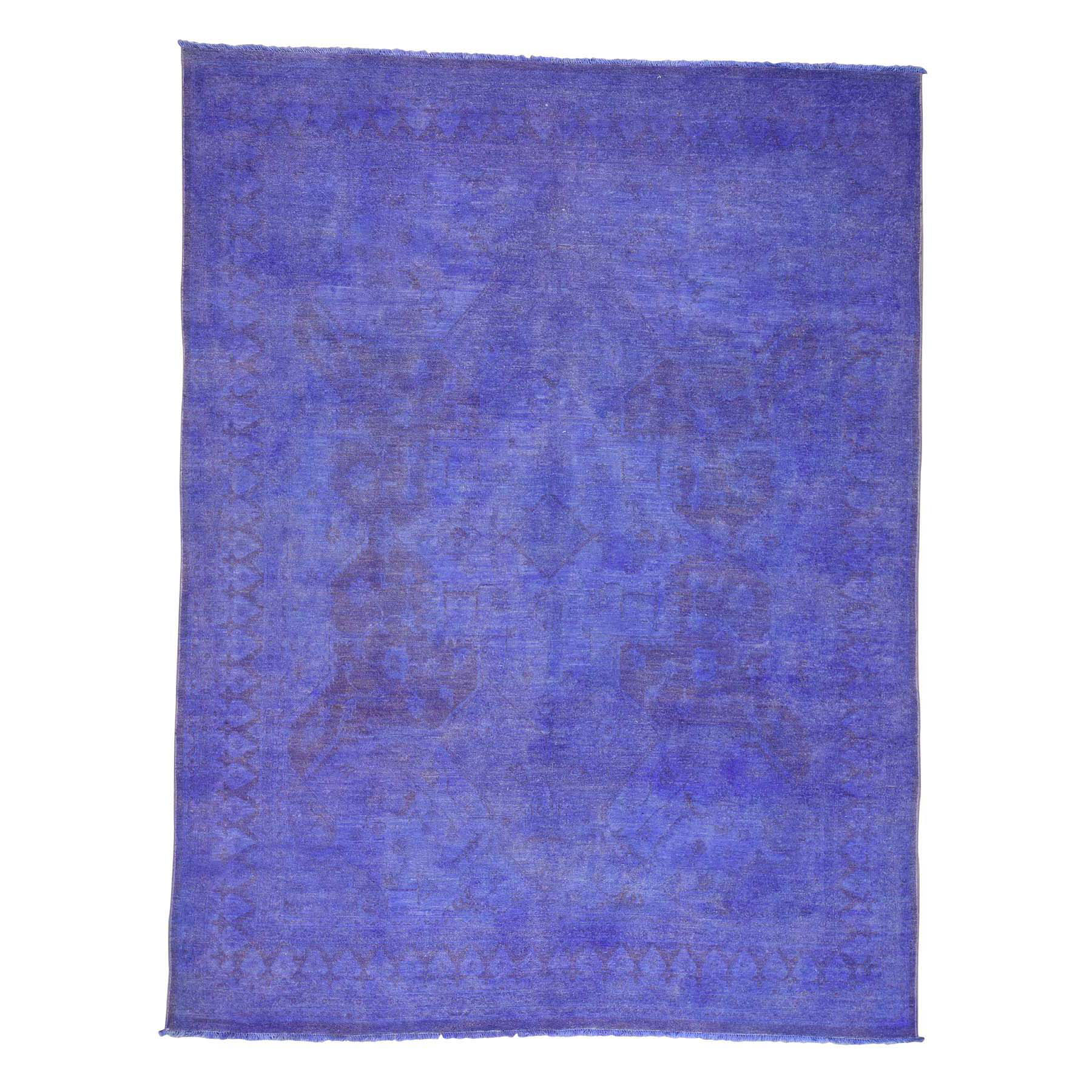 Fetneh Collection And Vintage Overdyed Collection Hand Knotted Purple Rug No: 0173074