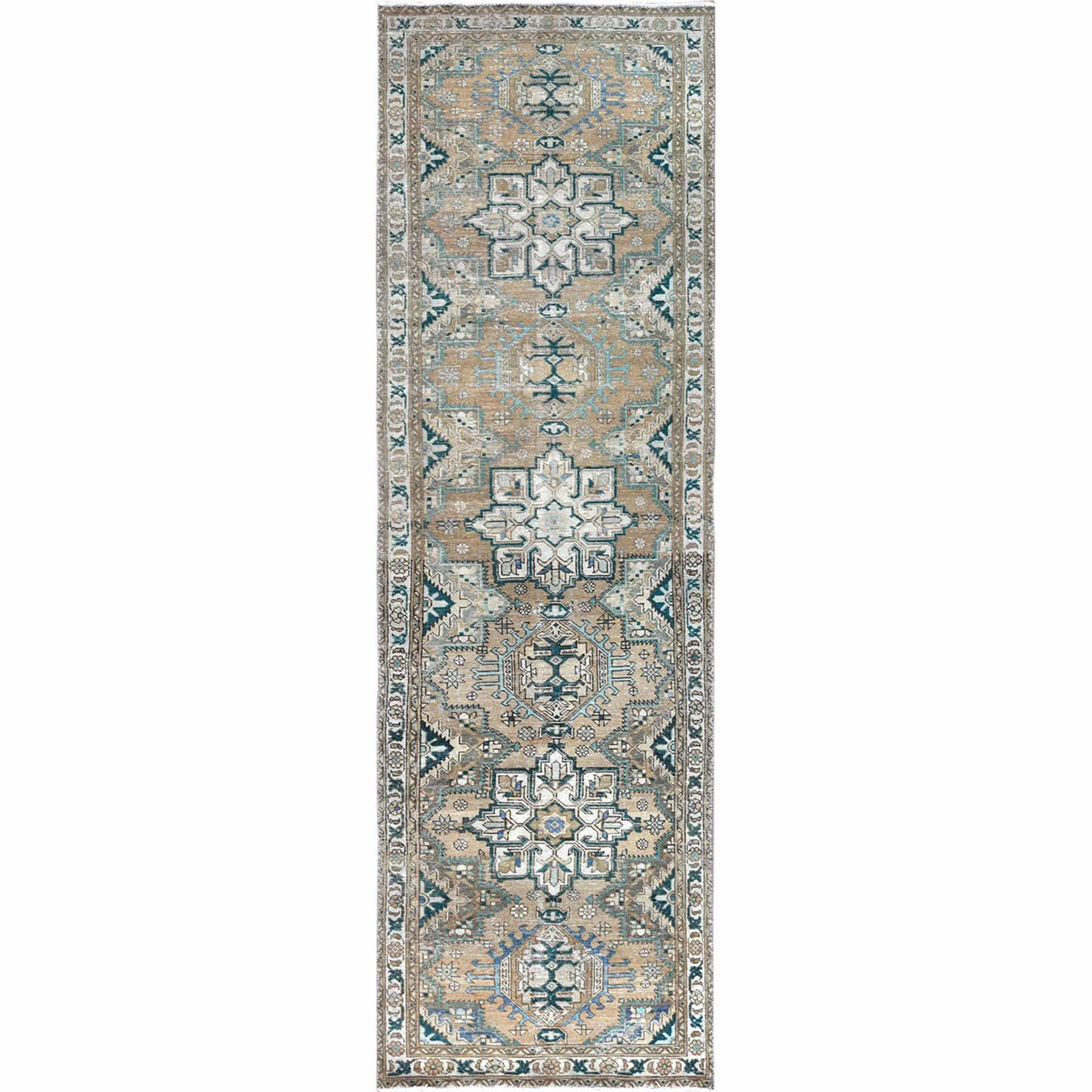 Fetneh Collection And Vintage Overdyed Collection Hand Knotted Orange Rug No: 1121994