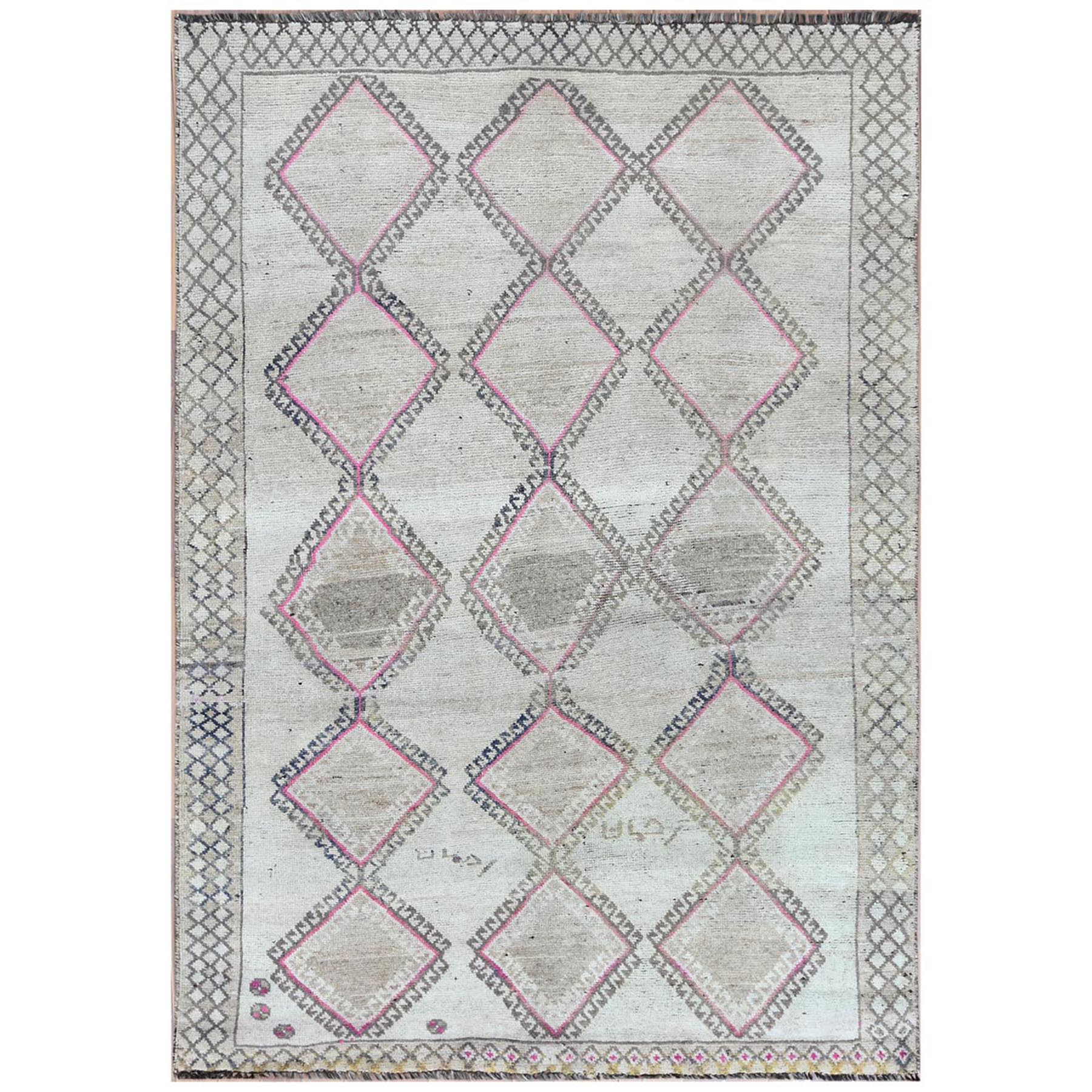 Fetneh Collection And Vintage Overdyed Collection Hand Knotted Beige Rug No: 1122176