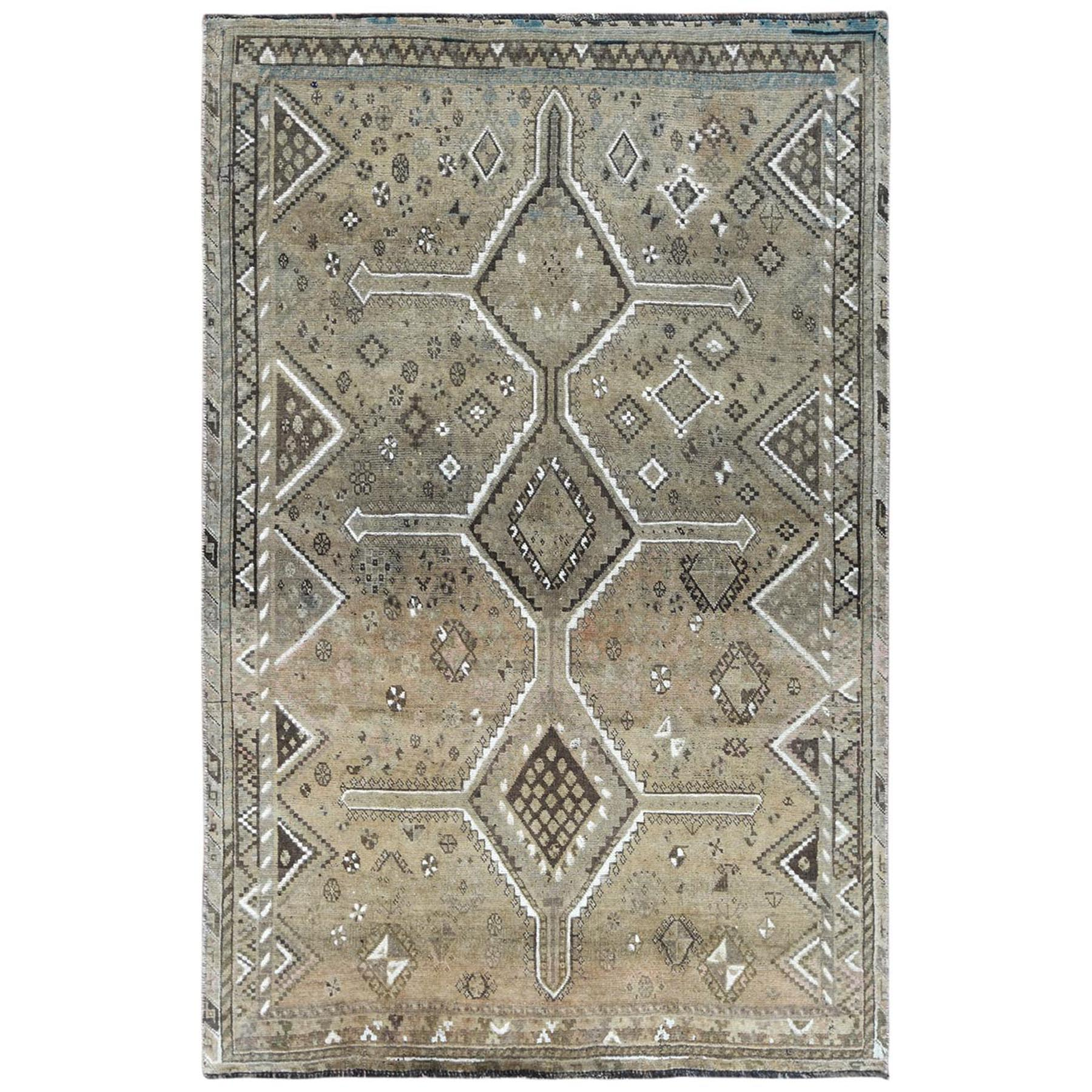 Fetneh Collection And Vintage Overdyed Collection Hand Knotted Beige Rug No: 1122186