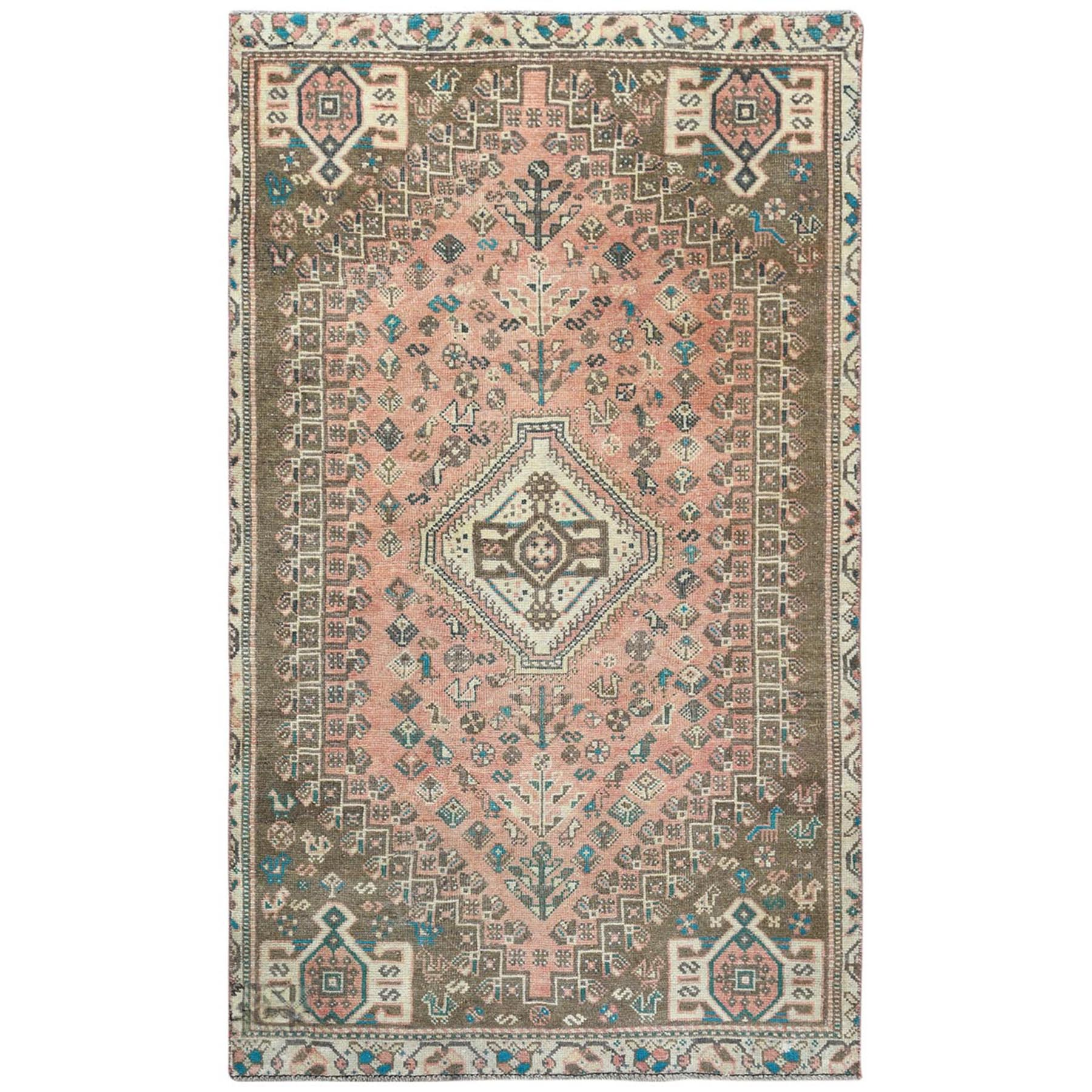 Fetneh Collection And Vintage Overdyed Collection Hand Knotted Red Rug No: 1122188