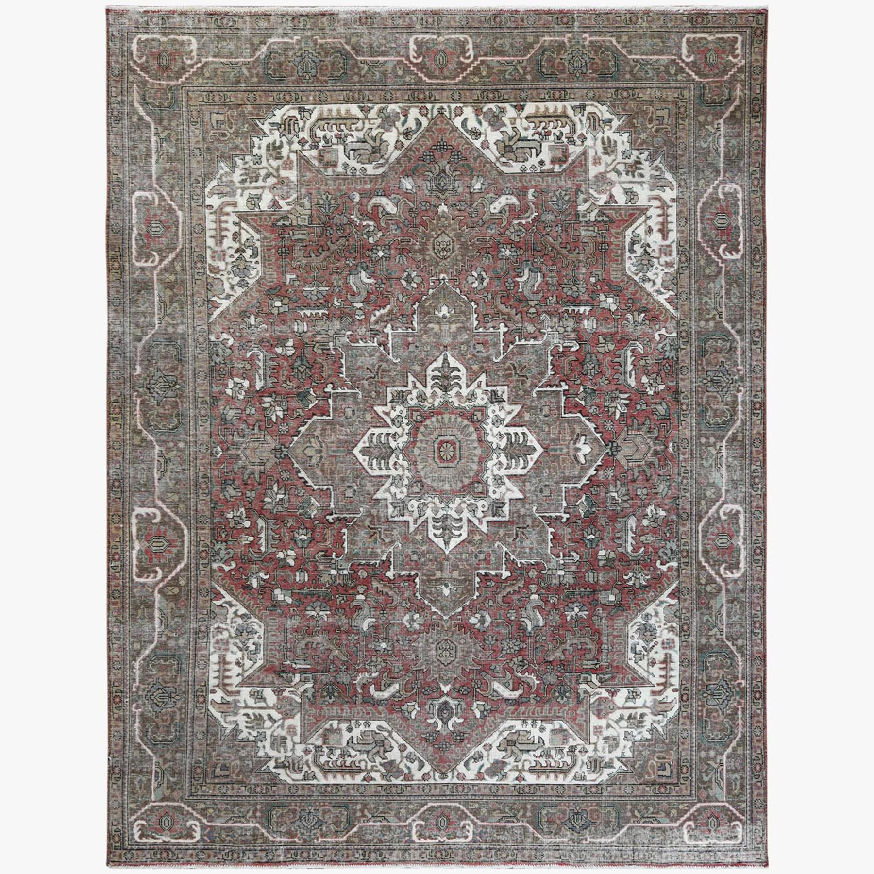 Fetneh Collection And Vintage Overdyed Collection Hand Knotted Red Rug No: 1122800