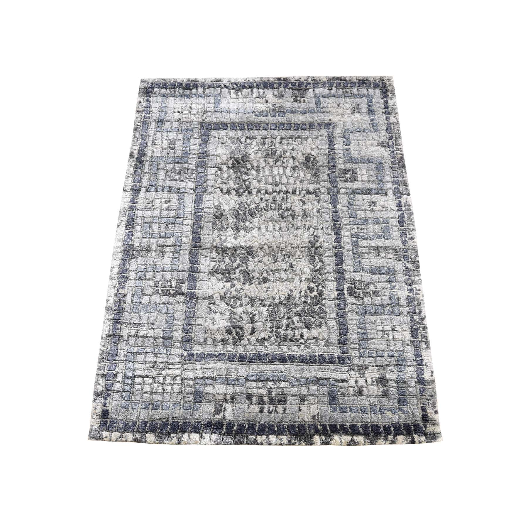 Transitional Hand Knotted Grey Rug No: 0190564