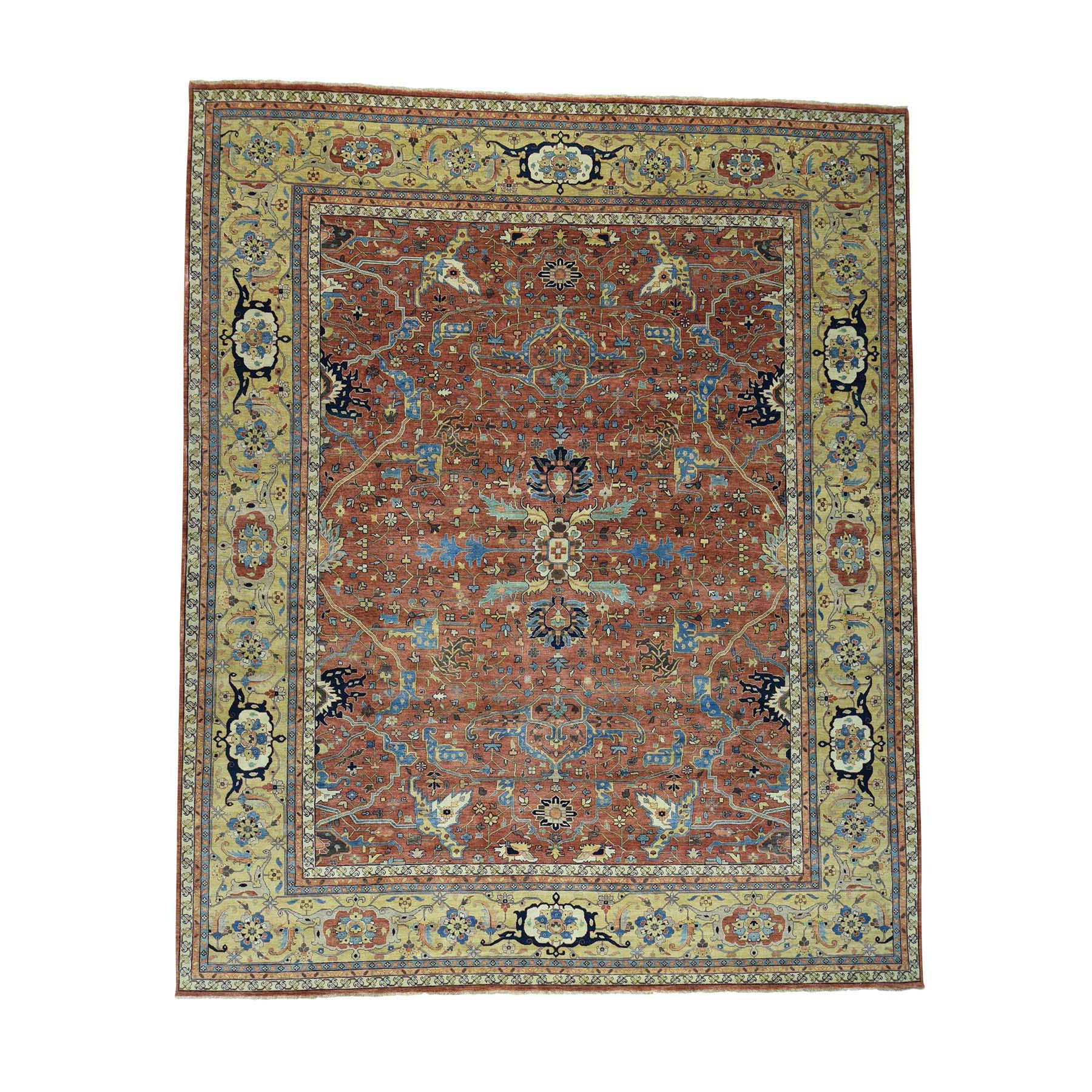 Serapi Heriz and Bakhshayesh Collection Hand Knotted Red Rug No: 0172904