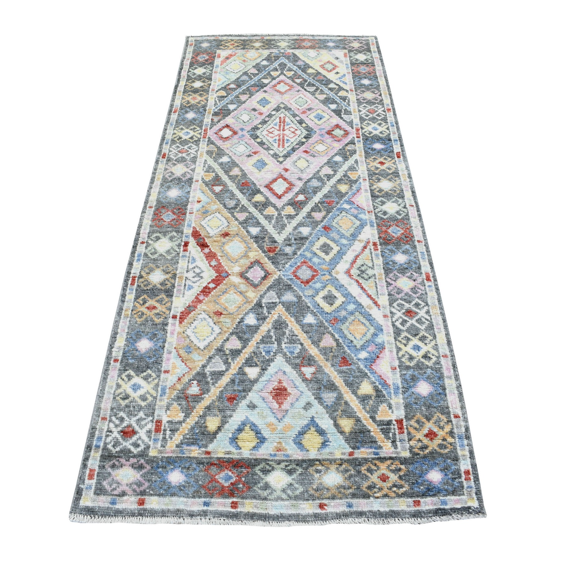 Nomadic And Village Collection Hand Knotted Grey Rug No: 1136094