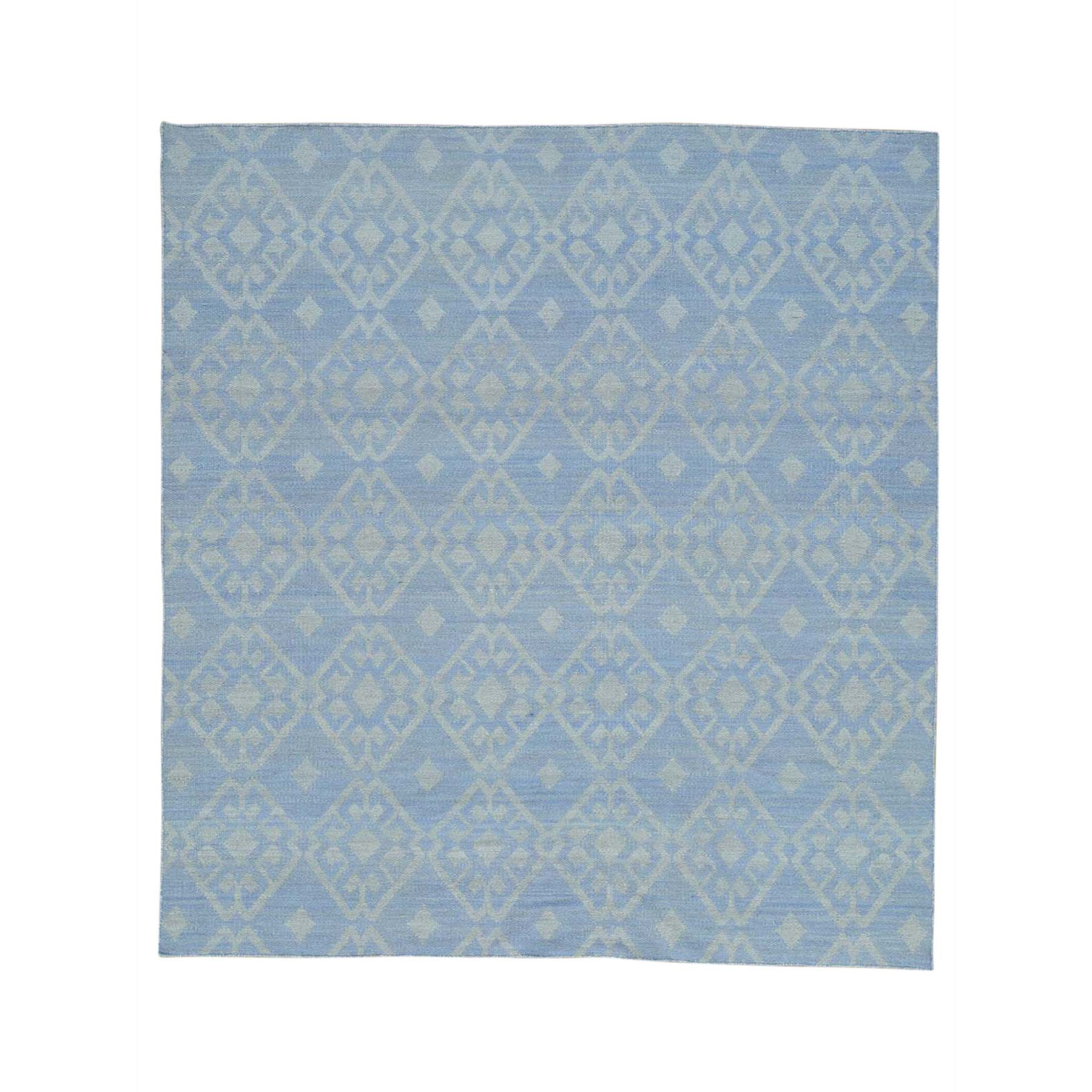 Fine Kilim Collection Hand Woven Blue Rug No: 172570