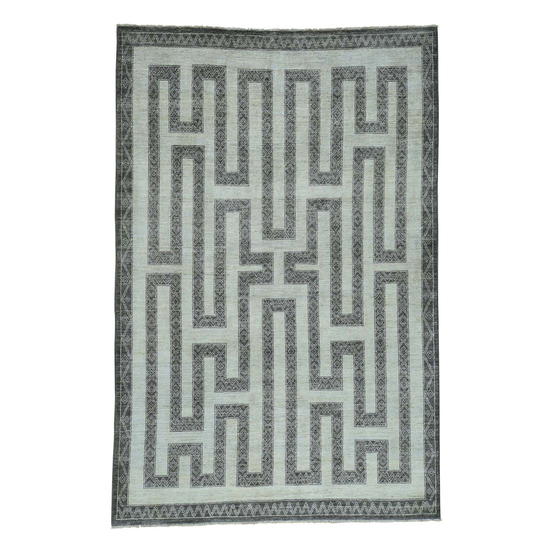 Agra And Turkish Collection Hand Knotted Ivory Rug No: 0172954