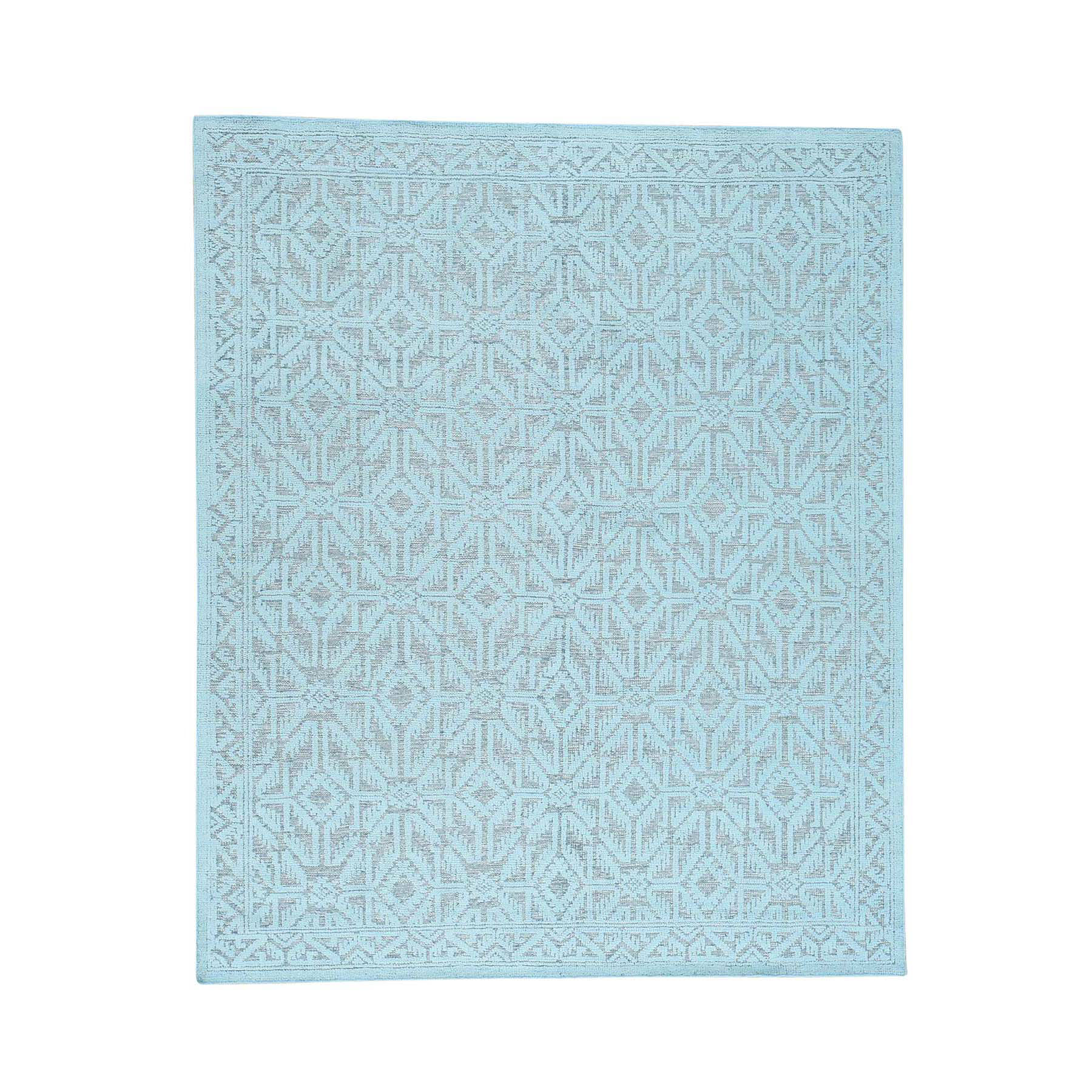 Agra And Turkish Collection Hand Knotted Green 0172828 Rug