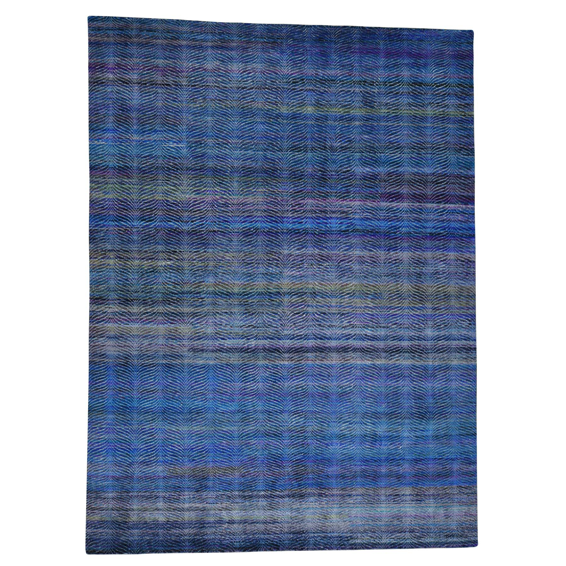 Mid Century Modern Collection Hand Knotted Multicolored Rug No: 0172850
