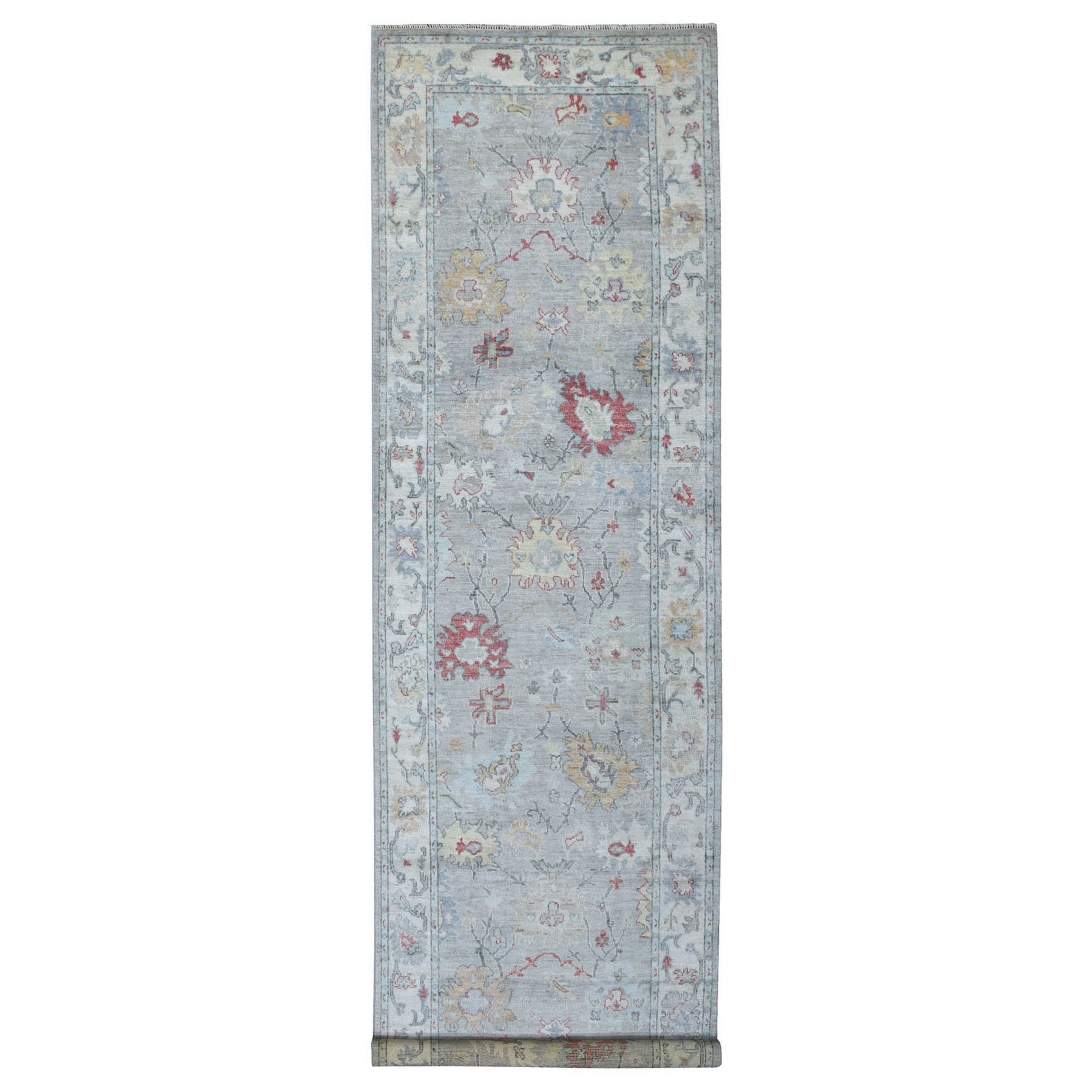 Agra And Turkish Collection Hand Knotted Grey Rug No: 1137142