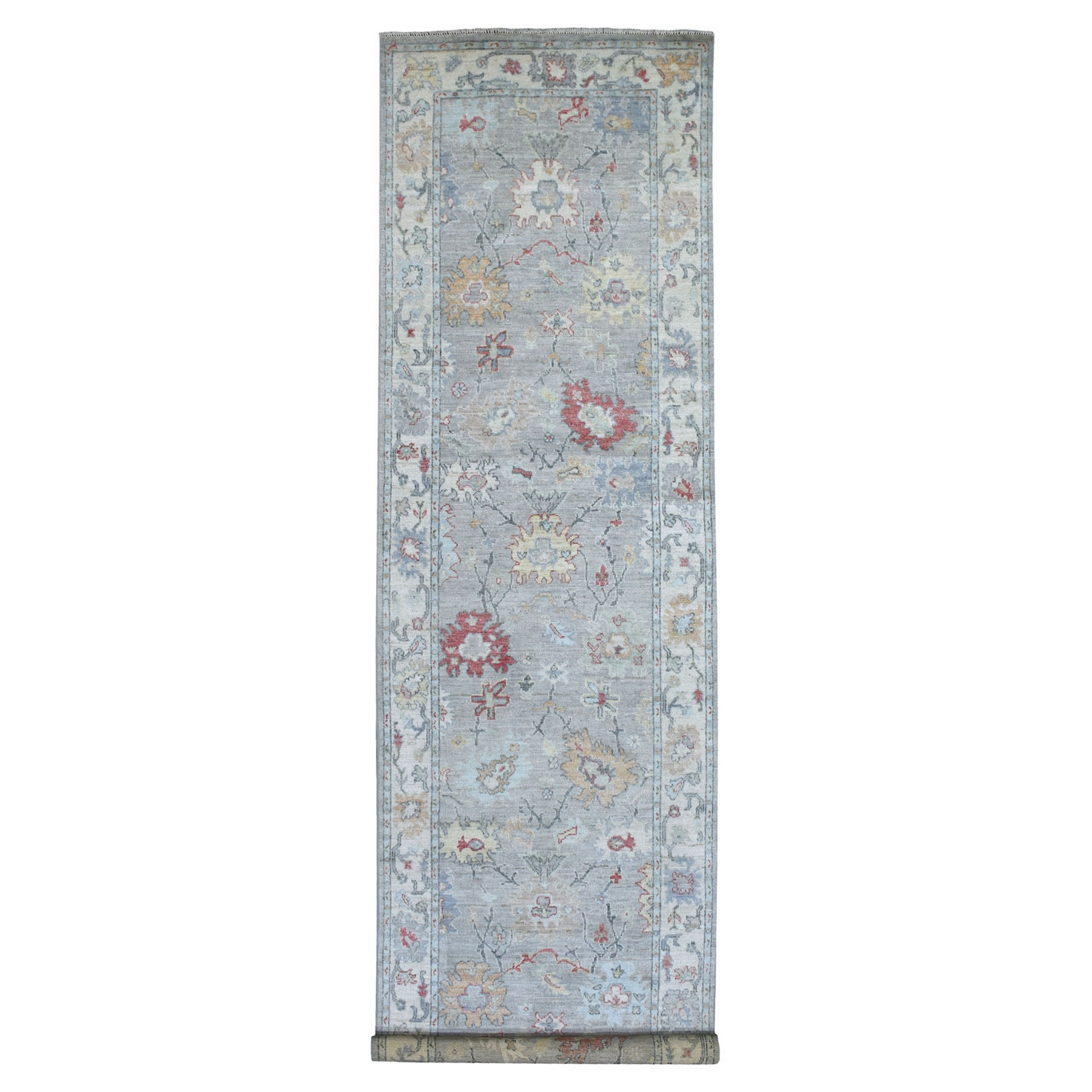 Agra And Turkish Collection Hand Knotted Grey Rug No: 1137148
