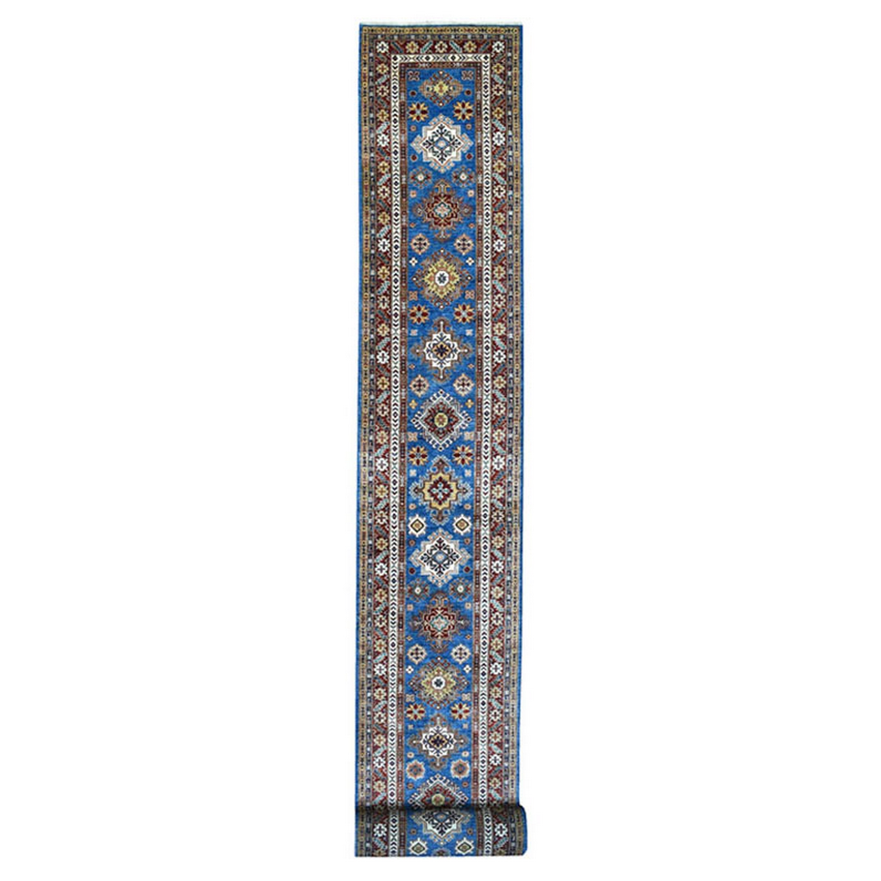 Caucasian Collection Hand Knotted Blue Rug No: 1137204