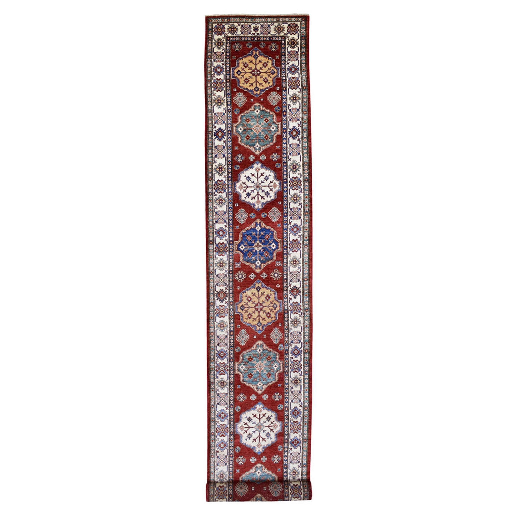 Caucasian Collection Hand Knotted Red Rug No: 1137284