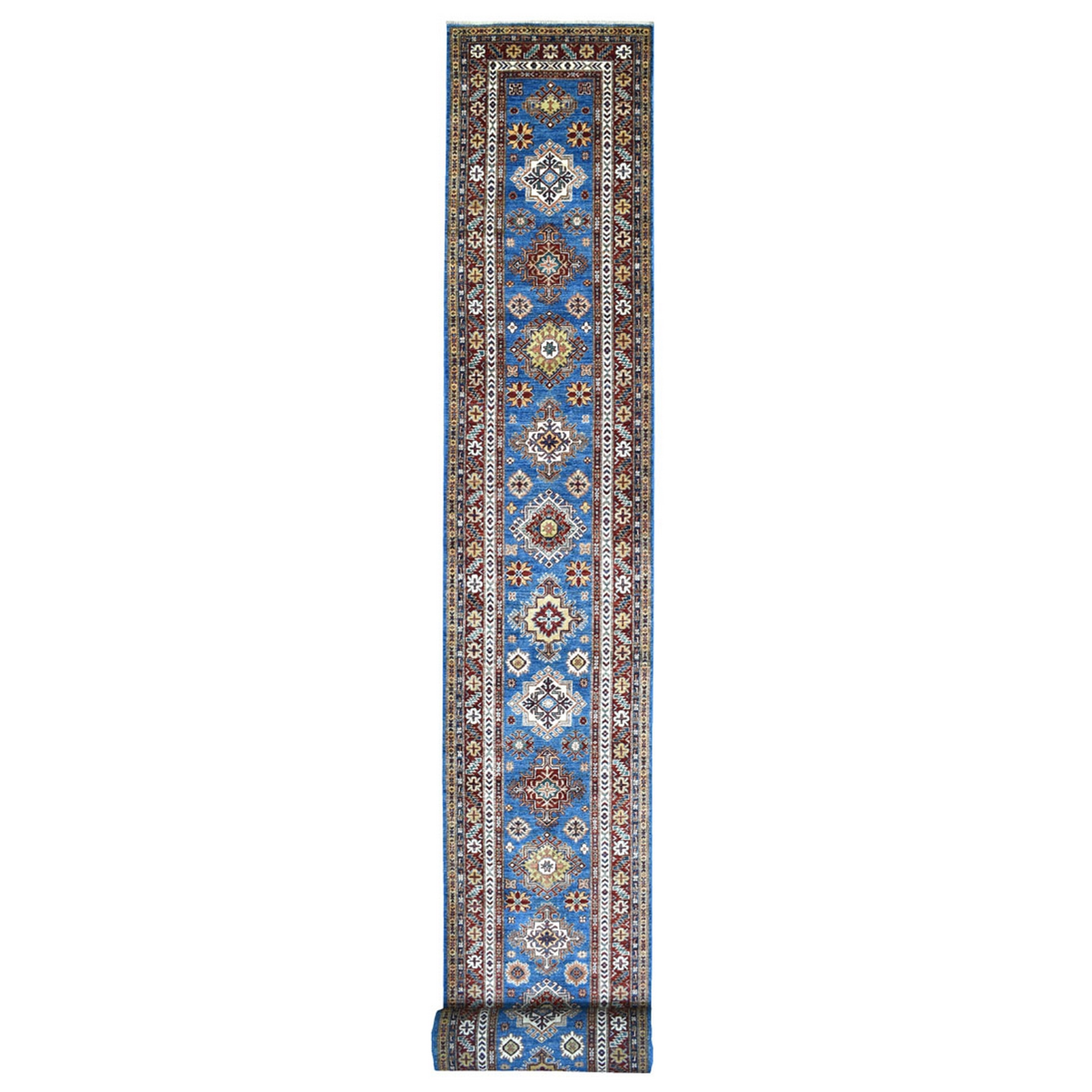 Caucasian Collection Hand Knotted Blue Rug No: 1137286