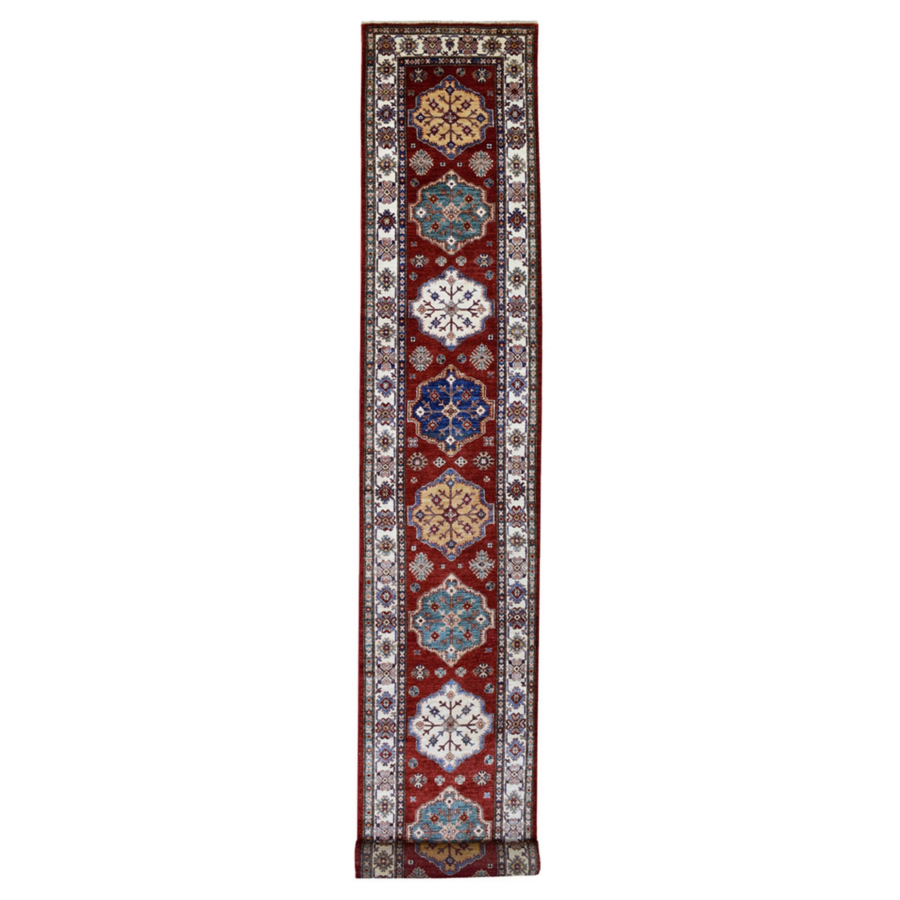 Caucasian Collection Hand Knotted Red Rug No: 1137288